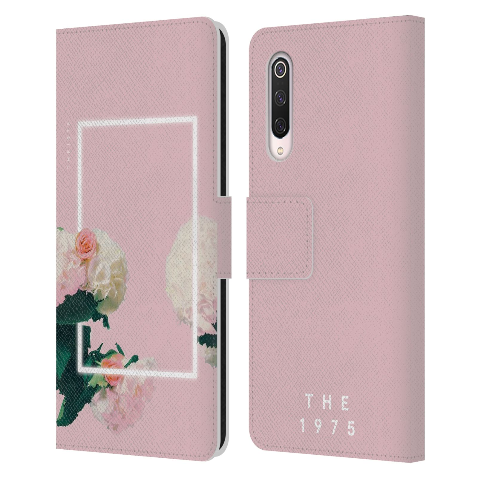 Official The 1975 Key Art Roses Pink Leather Book Wallet Case For Xiaomi Mi 9 Pro / 5G