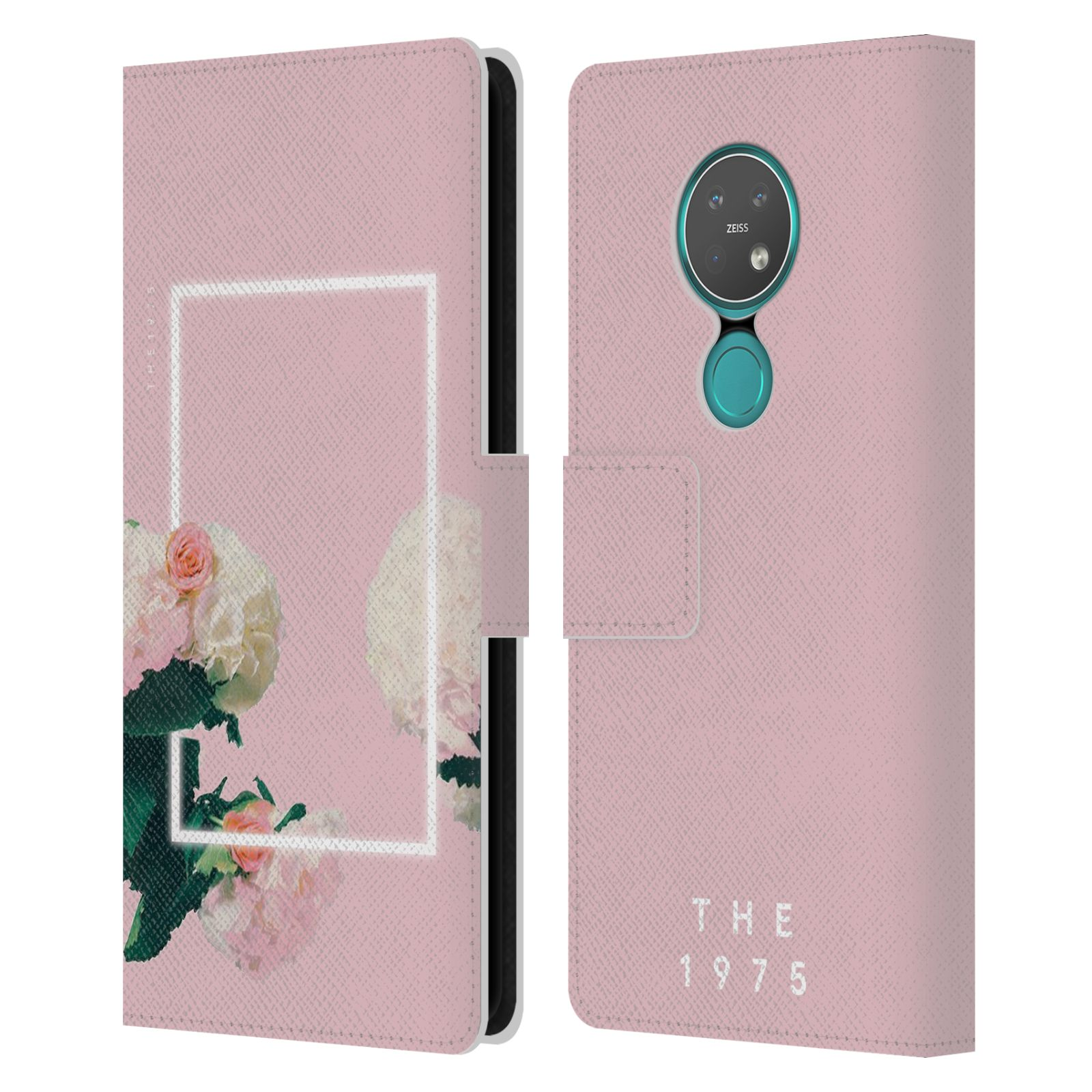 Official The 1975 Key Art Roses Pink Leather Book Wallet Case For Nokia 7.2