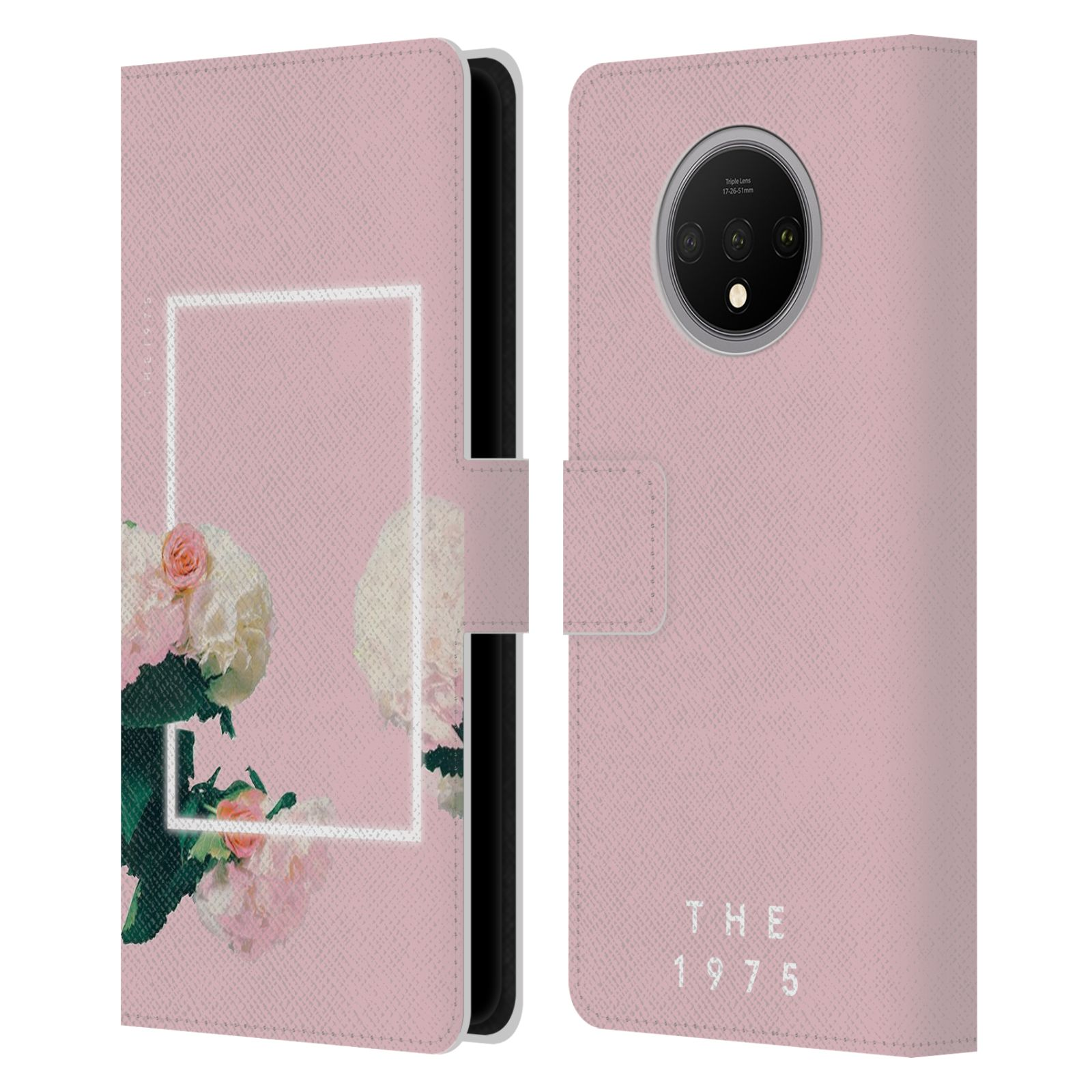 Official The 1975 Key Art Roses Pink Leather Book Wallet Case For OnePlus 7T