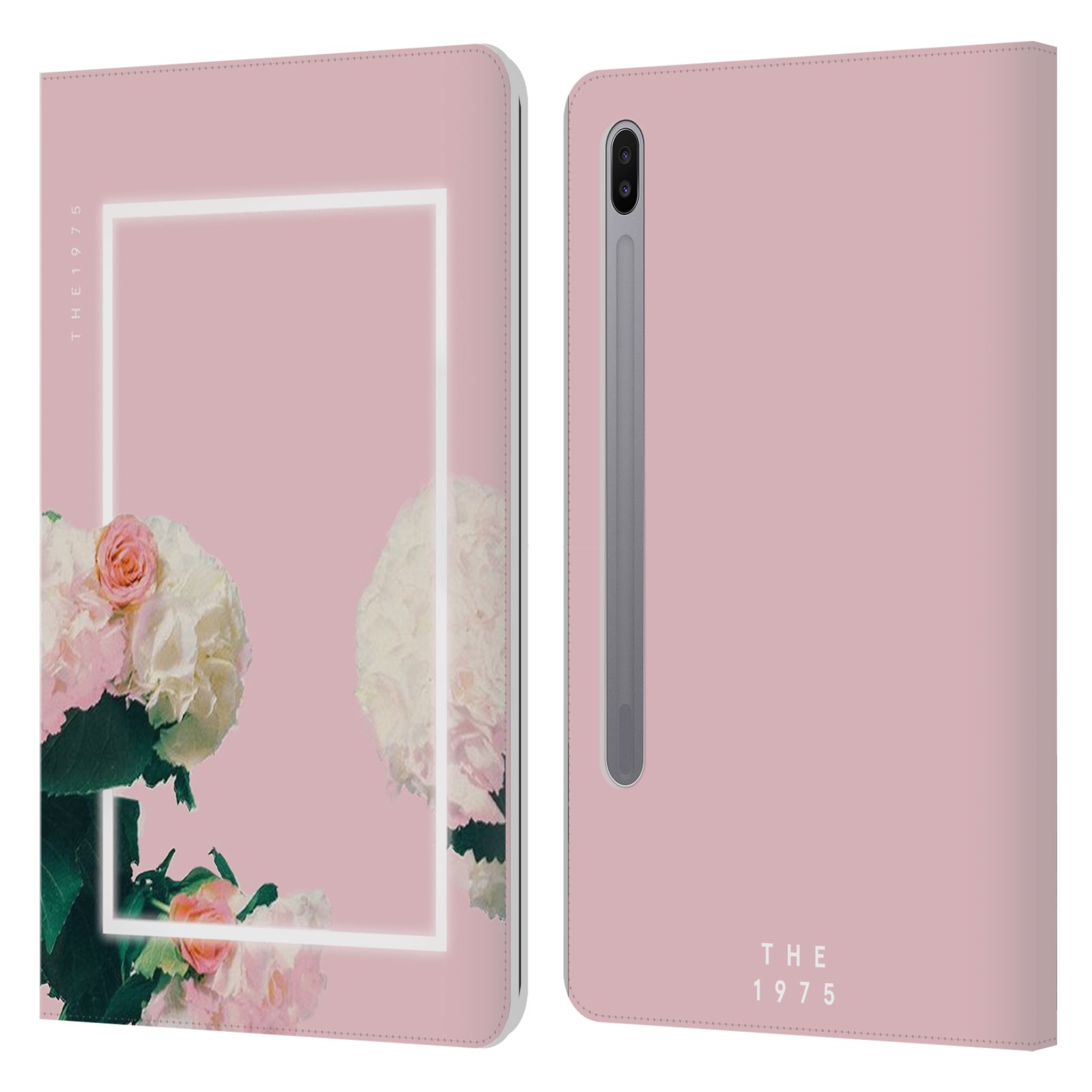 Official The 1975 Key Art Roses Pink Leather Book Wallet Case For Samsung Galaxy Tab S6 (2019)