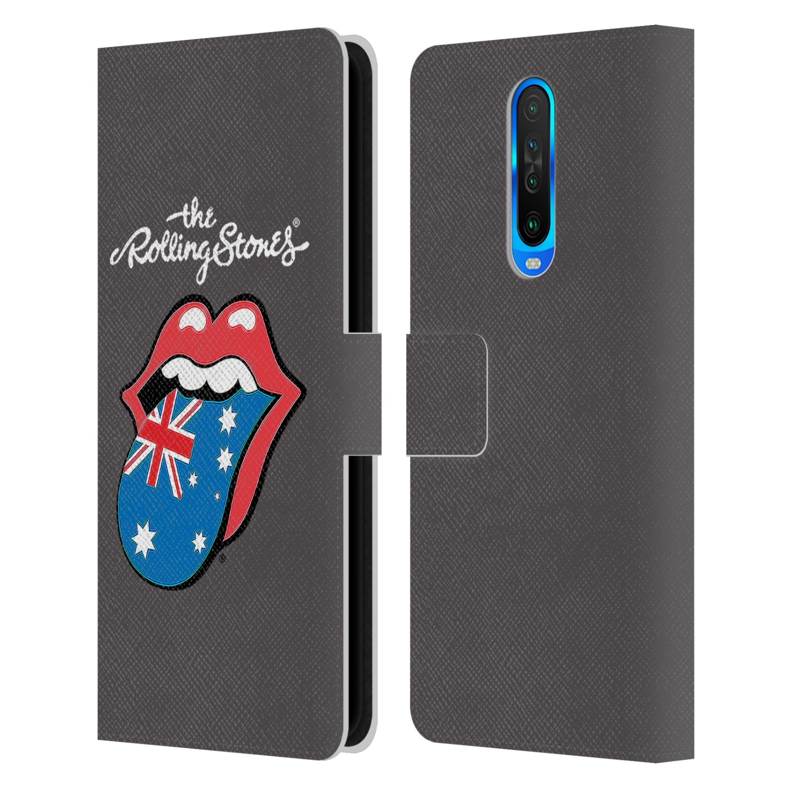 Official The Rolling Stones International Licks 1 Australia Leather Book Wallet Case For Xiaomi Redmi K30 / 5G