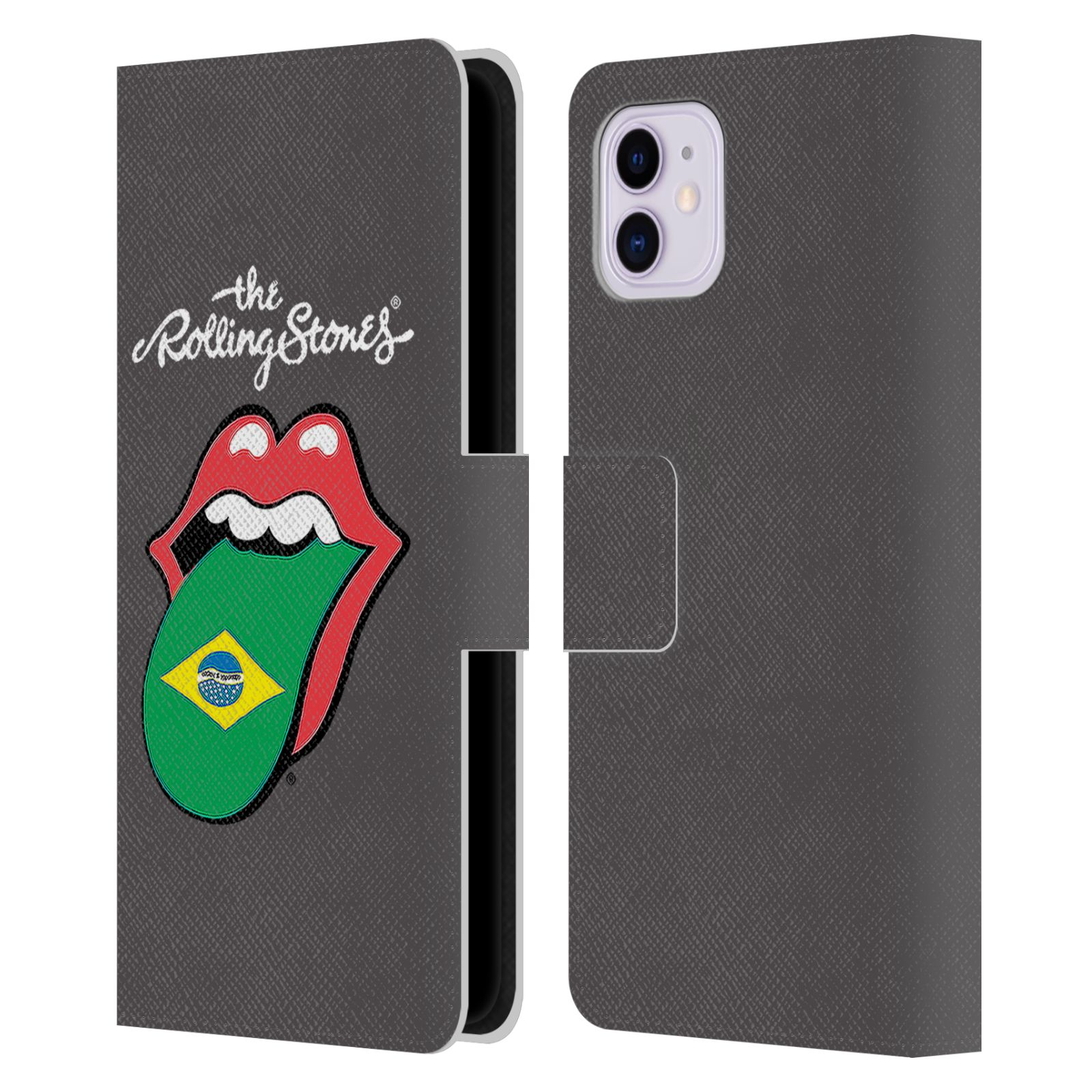 Official The Rolling Stones International Licks 1 Brazil Leather Book Wallet Case For Apple iPhone 11