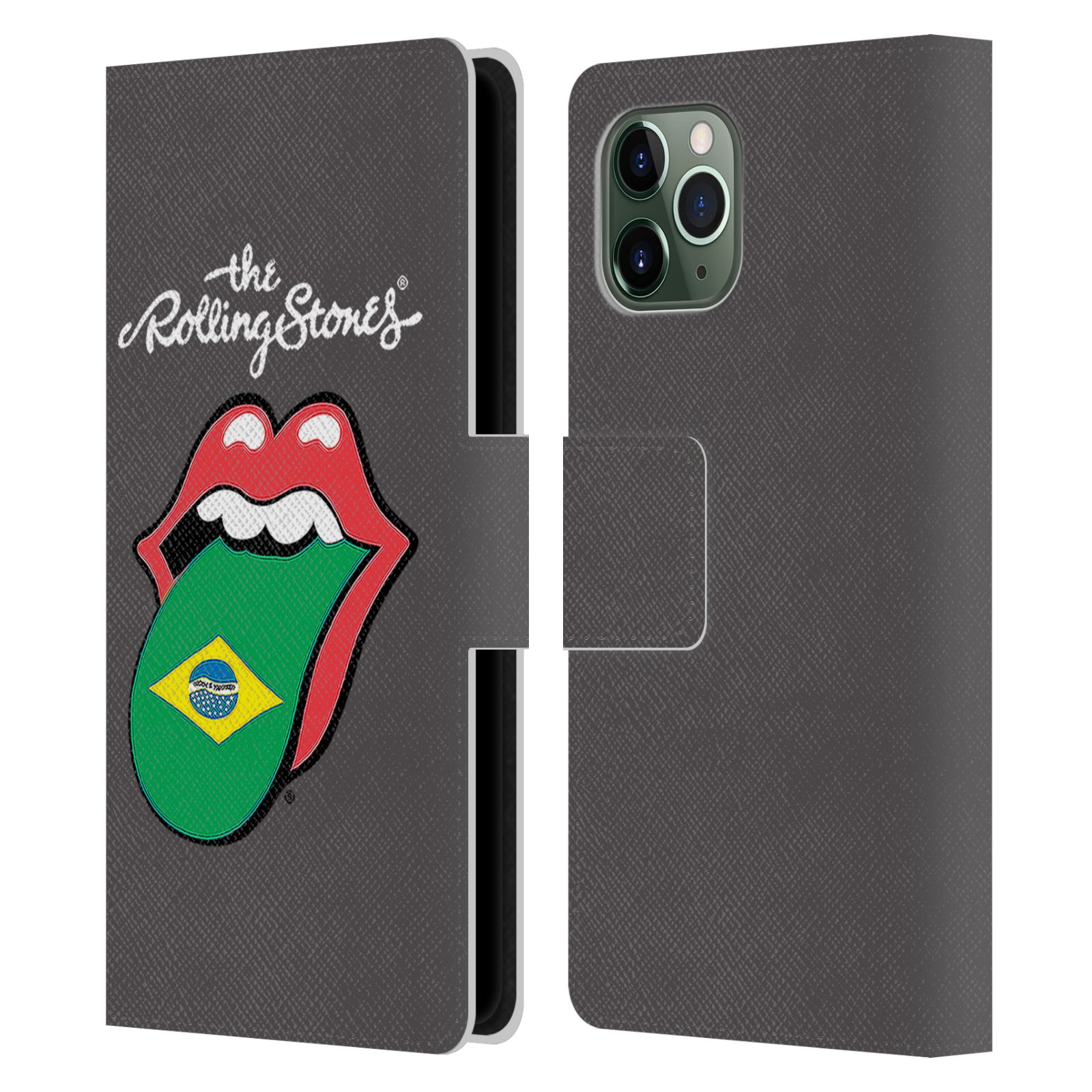 Official The Rolling Stones International Licks 1 Brazil Leather Book Wallet Case For Apple iPhone 11 Pro