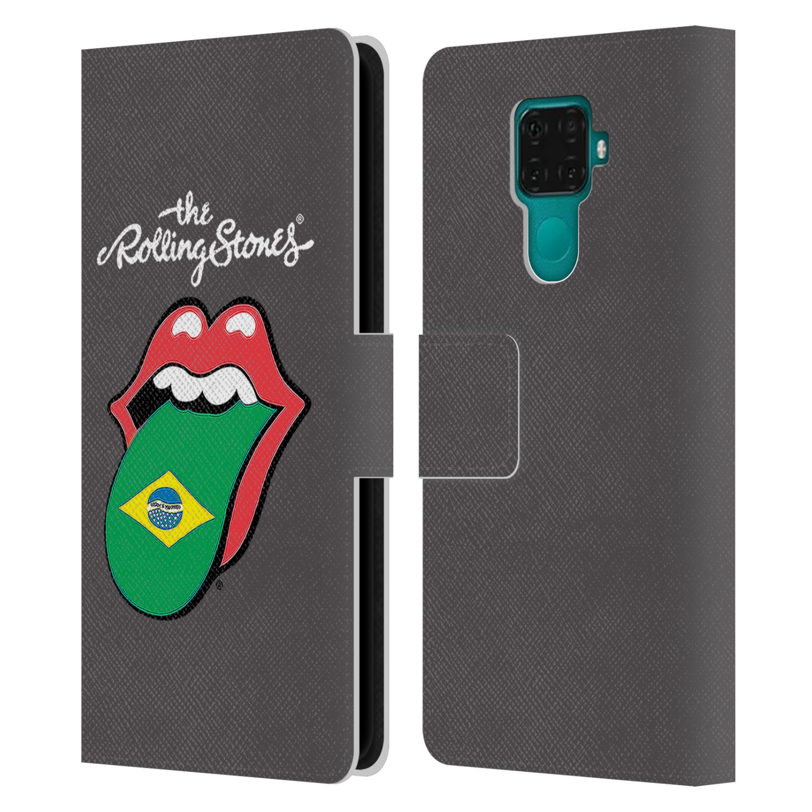 Official The Rolling Stones International Licks 1 Brazil Leather Book Wallet Case For Huawei Nova 5i Pro/Mate 30 Lite