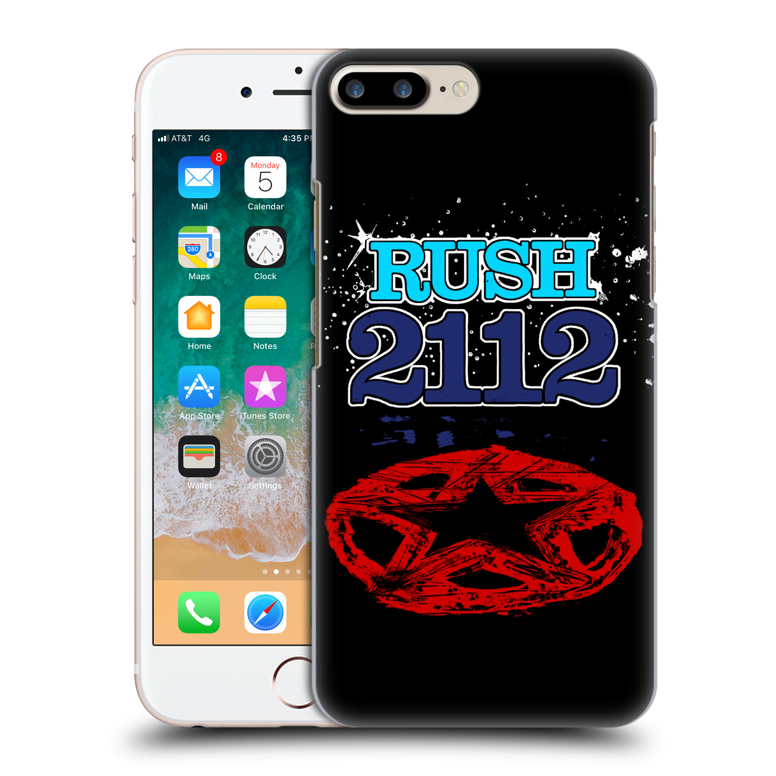 Official Rush Key Art 2112 Back Case for Apple iPhone 7 Plus / iPhone 8 Plus