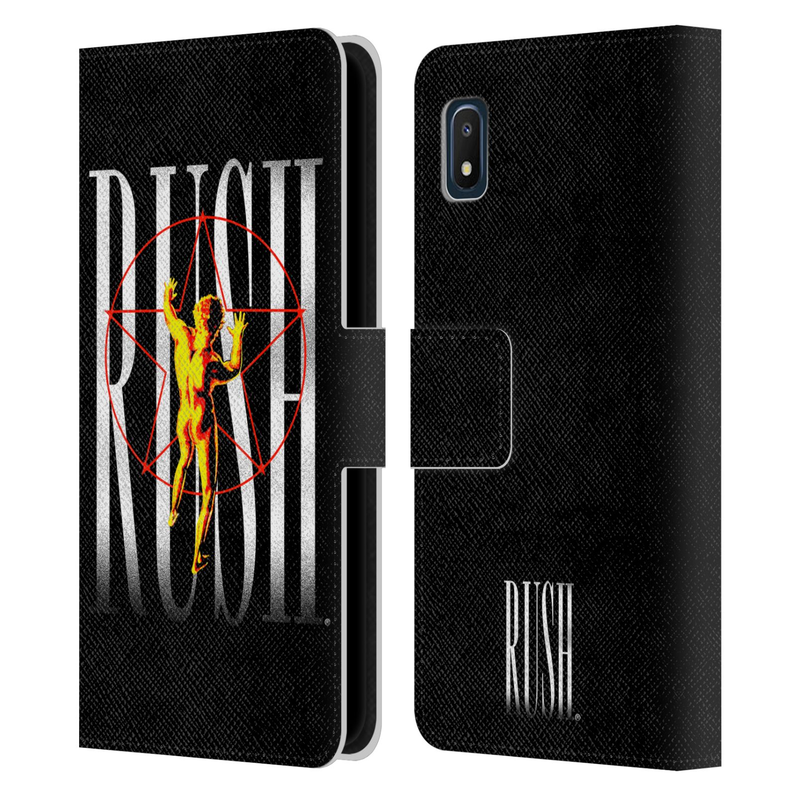 Official Rush Key Art 2112 Pentagram Leather Book Case For Samsung Galaxy A10e (2019)