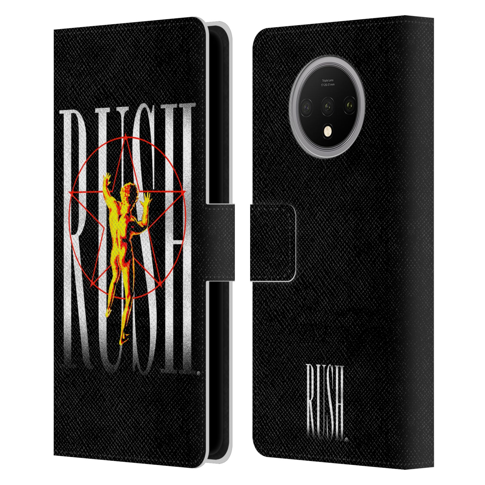 Official Rush Key Art 2112 Pentagram Leather Book Case For OnePlus 7T