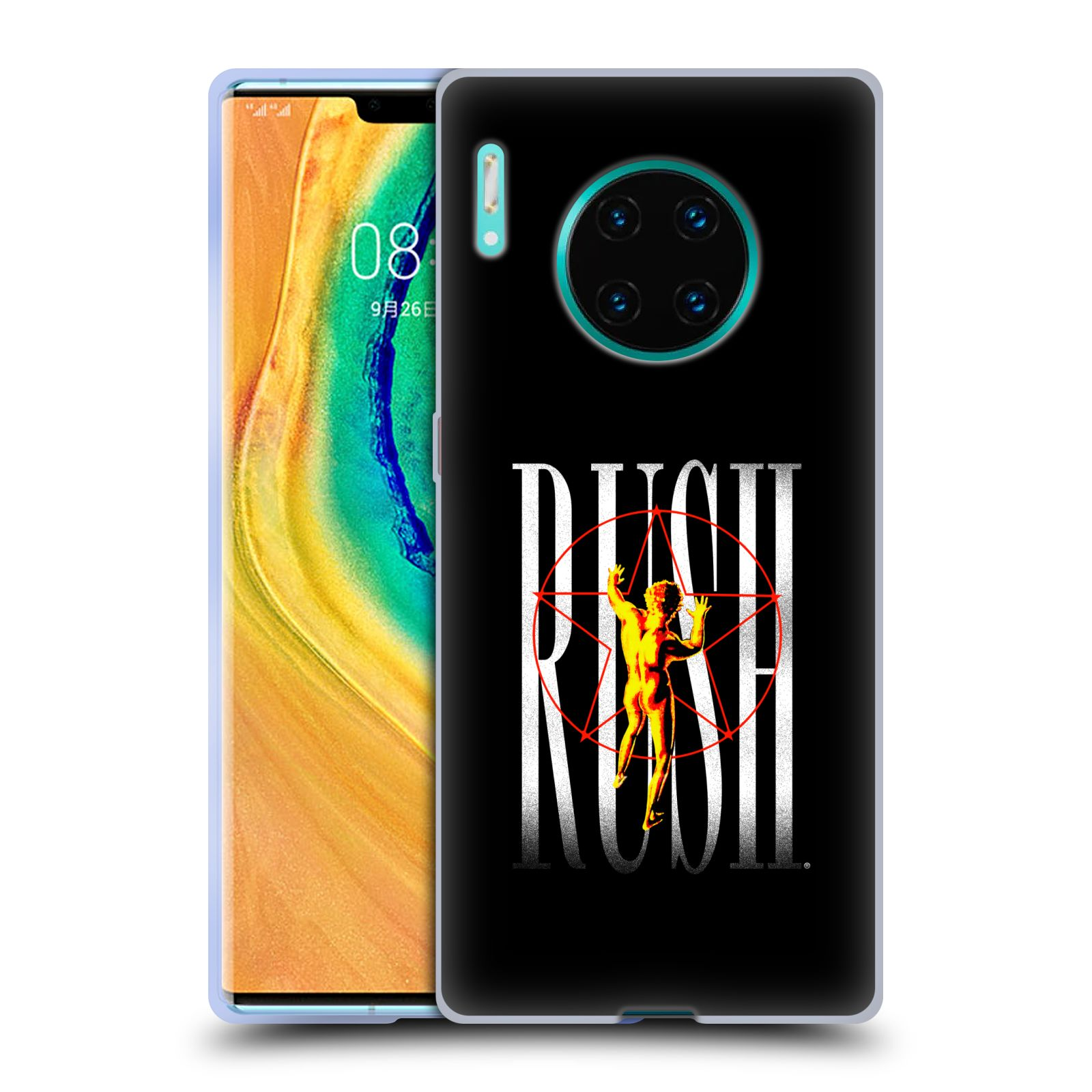 Official Rush Key Art 2112 Pentagram Gel Case for Huawei Mate 30 Pro / 5G
