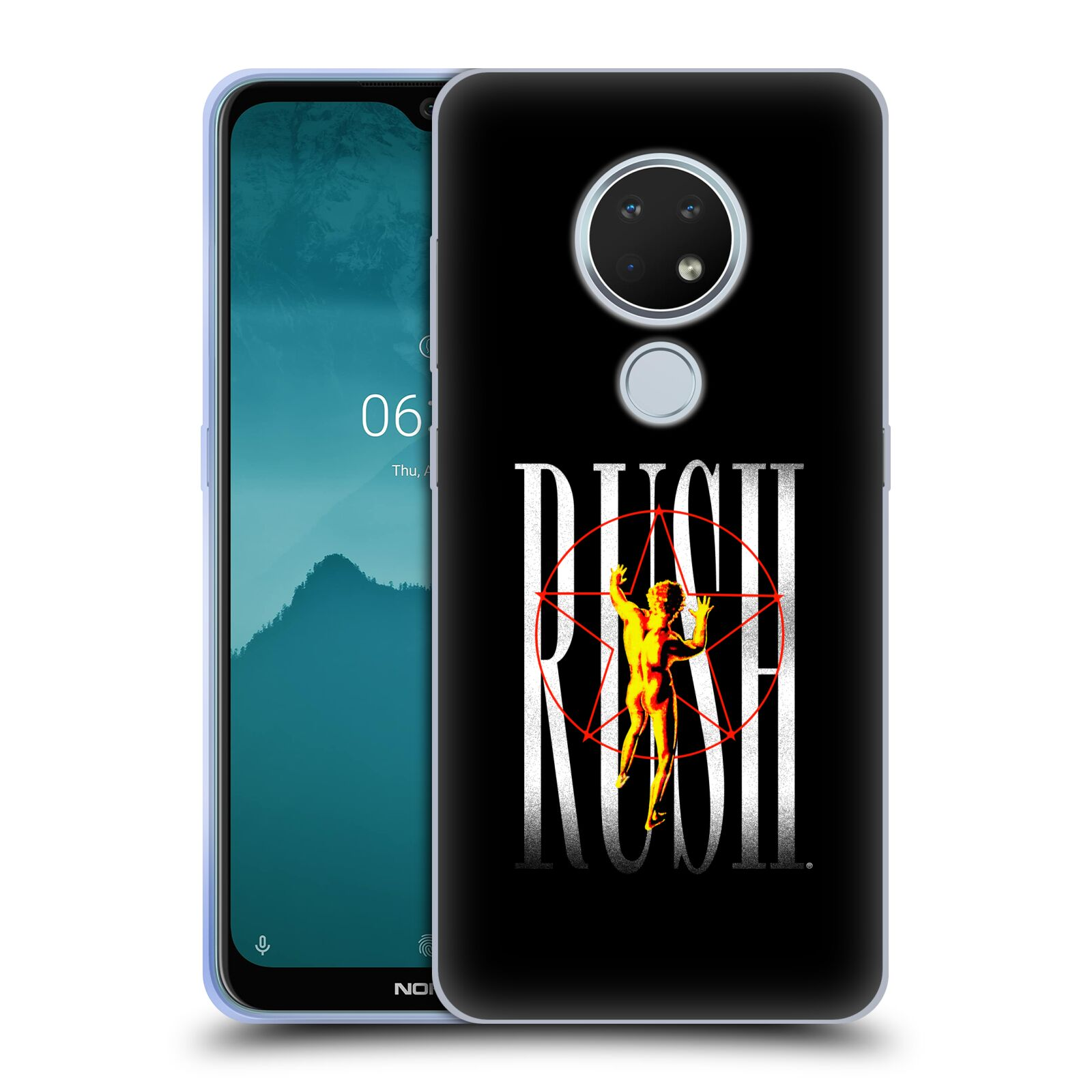 Official Rush Key Art 2112 Pentagram Gel Case for Nokia 6.2
