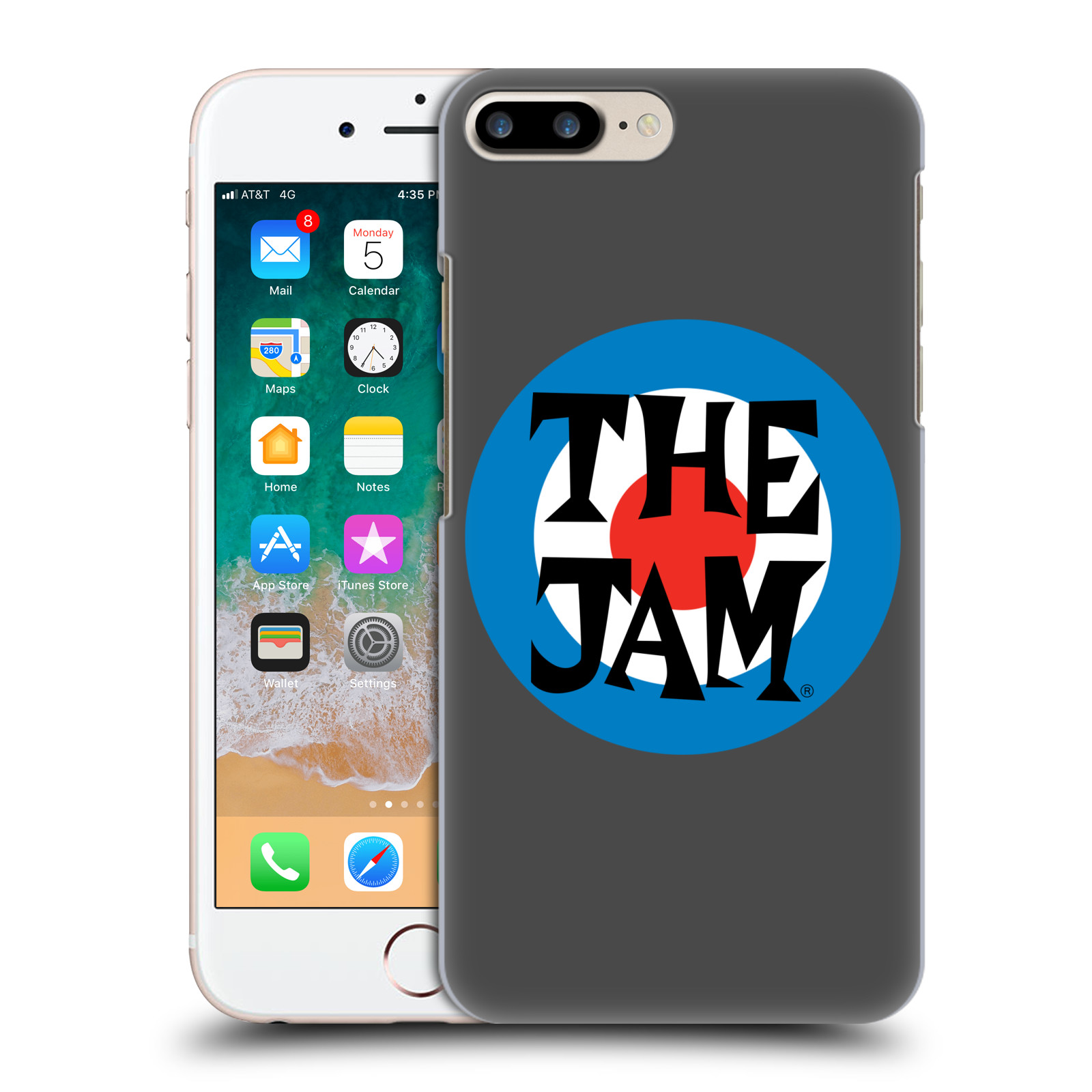 Official The Jam Key Art Target Logo Case for Apple iPhone 7 Plus / iPhone 8 Plus