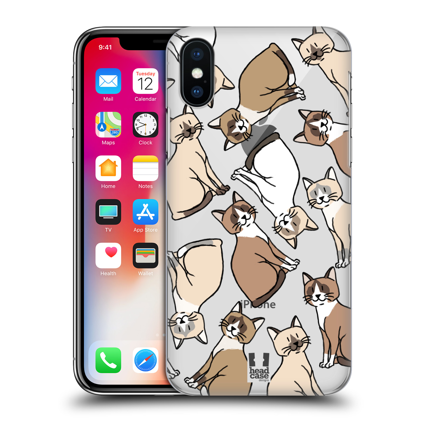 HEAD-CASE-DESIGNS-CAT-BREED-PATTERNS-2-HARD-BACK-CASE-FOR-APPLE-iPHONE-PHONES