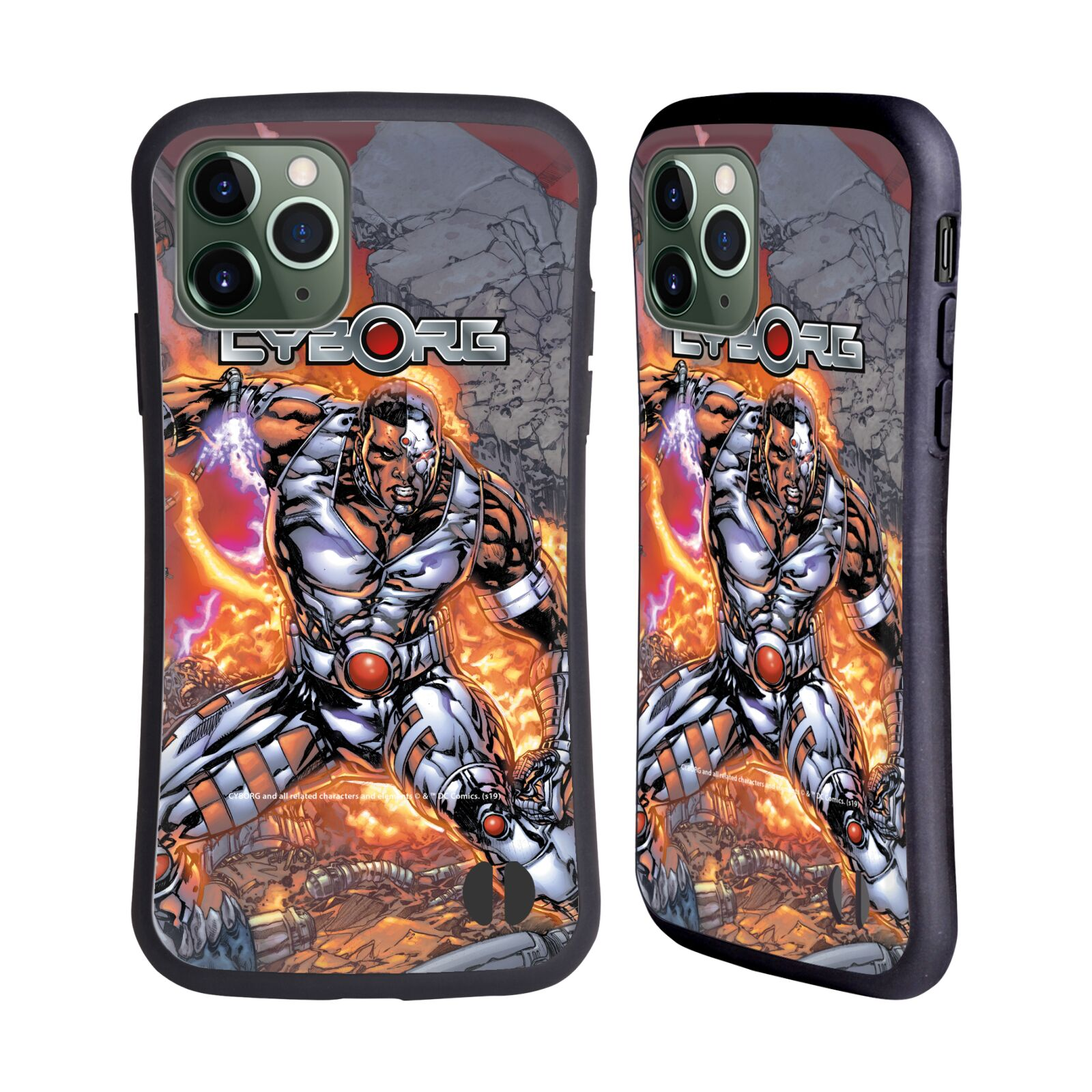 Official Cyborg DC Comics Fast Fashion Cover Hybrid Case for Apple iPhone 11 Pro