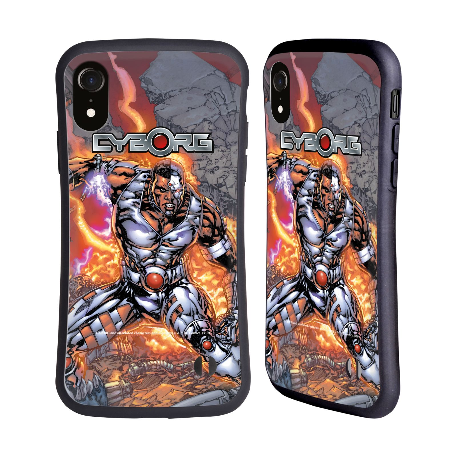 Official Cyborg DC Comics Fast Fashion Cover Hybrid Case for Apple iPhone XR