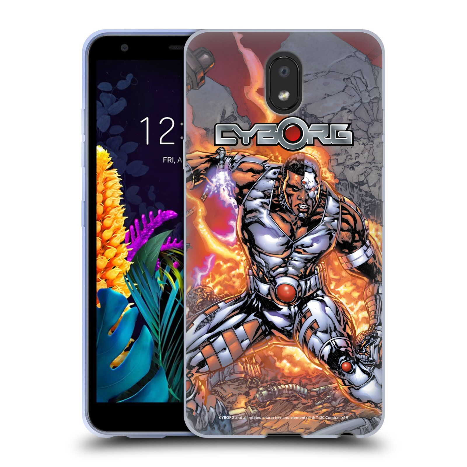 Official Cyborg DC Comics Fast Fashion Cover Gel Case for LG K30 (2019)