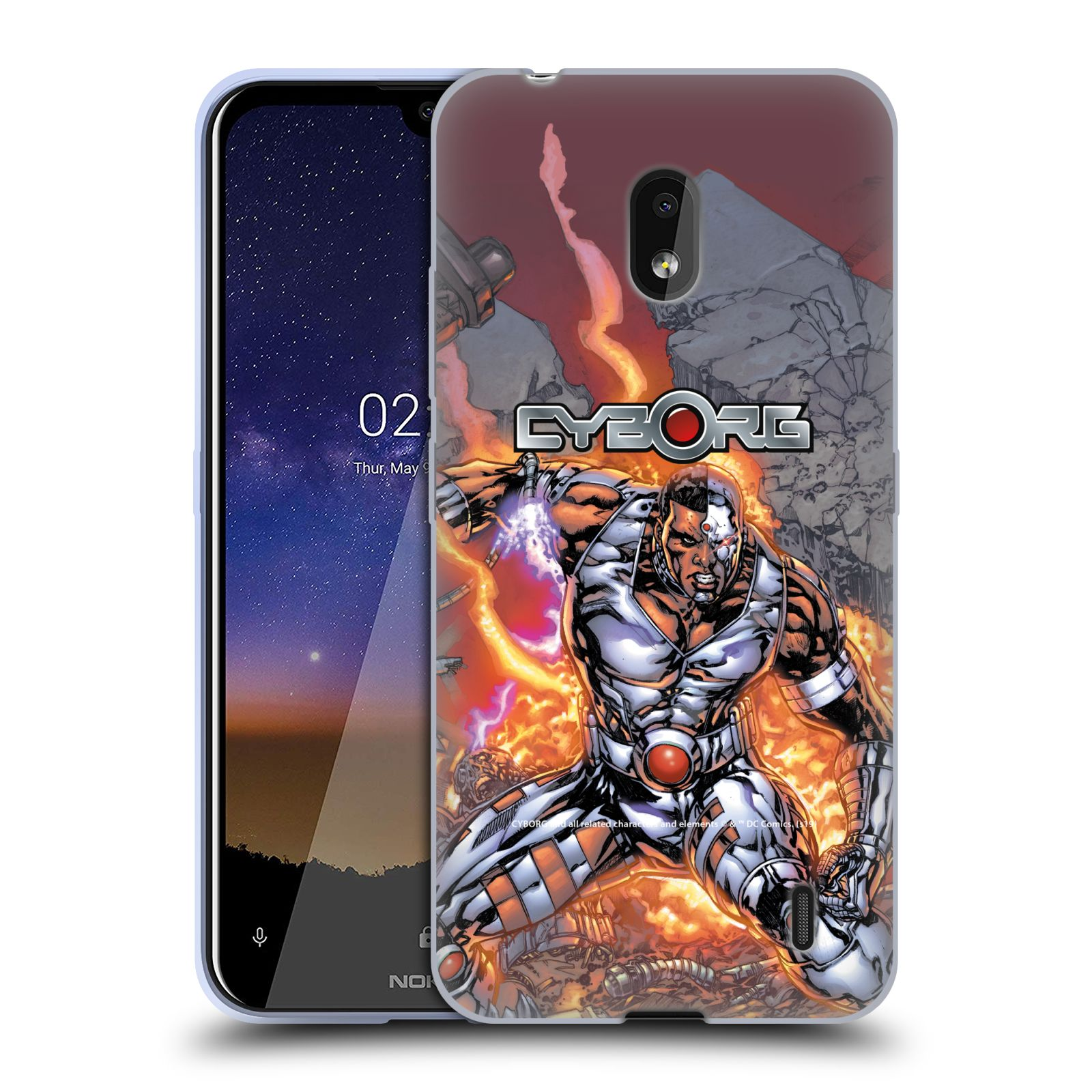 Official Cyborg DC Comics Fast Fashion Cover Gel Case for Nokia 2.2
