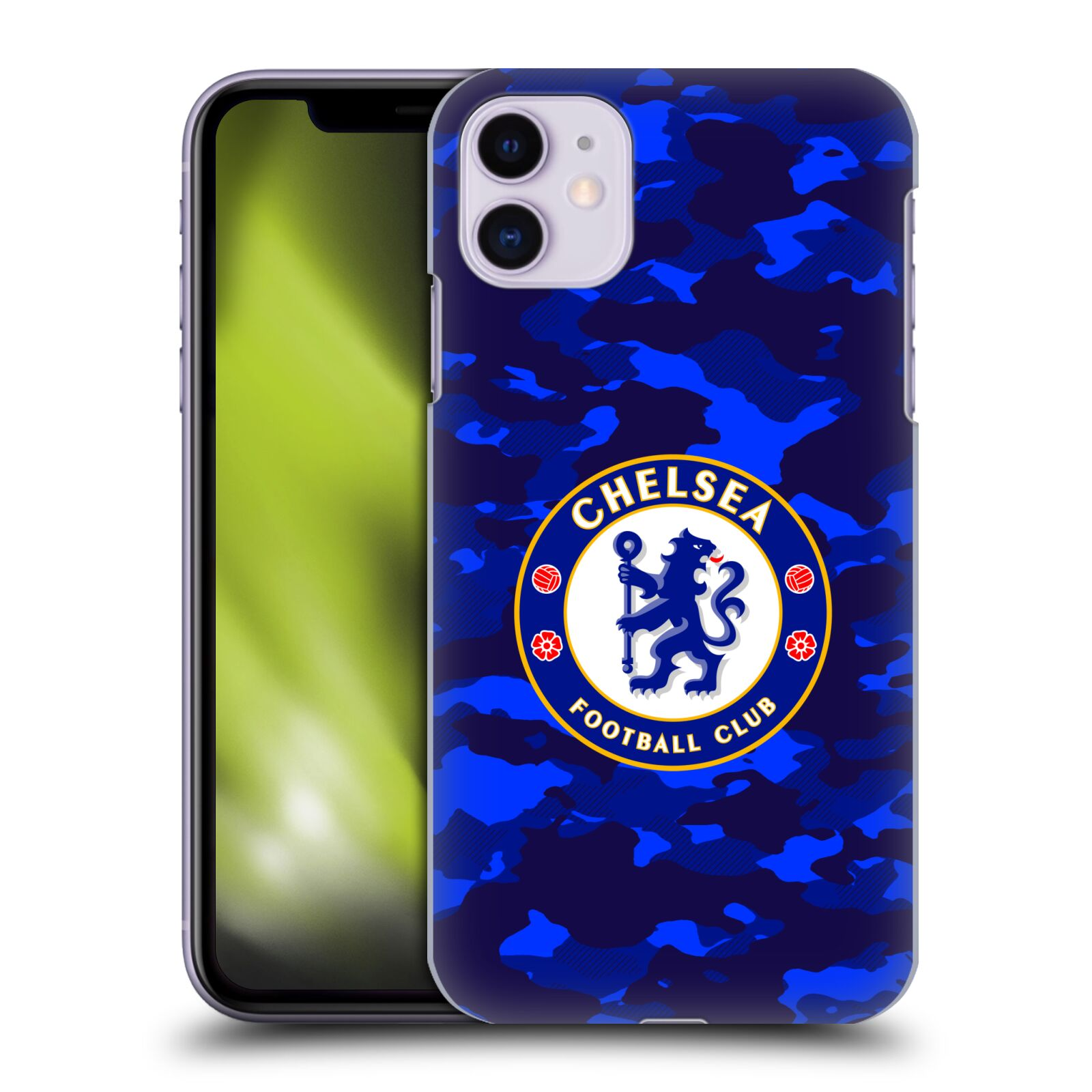 Offizielle Chelsea Football Club 2019/20 Crest Camouflage Hülle für Apple iPhone 11