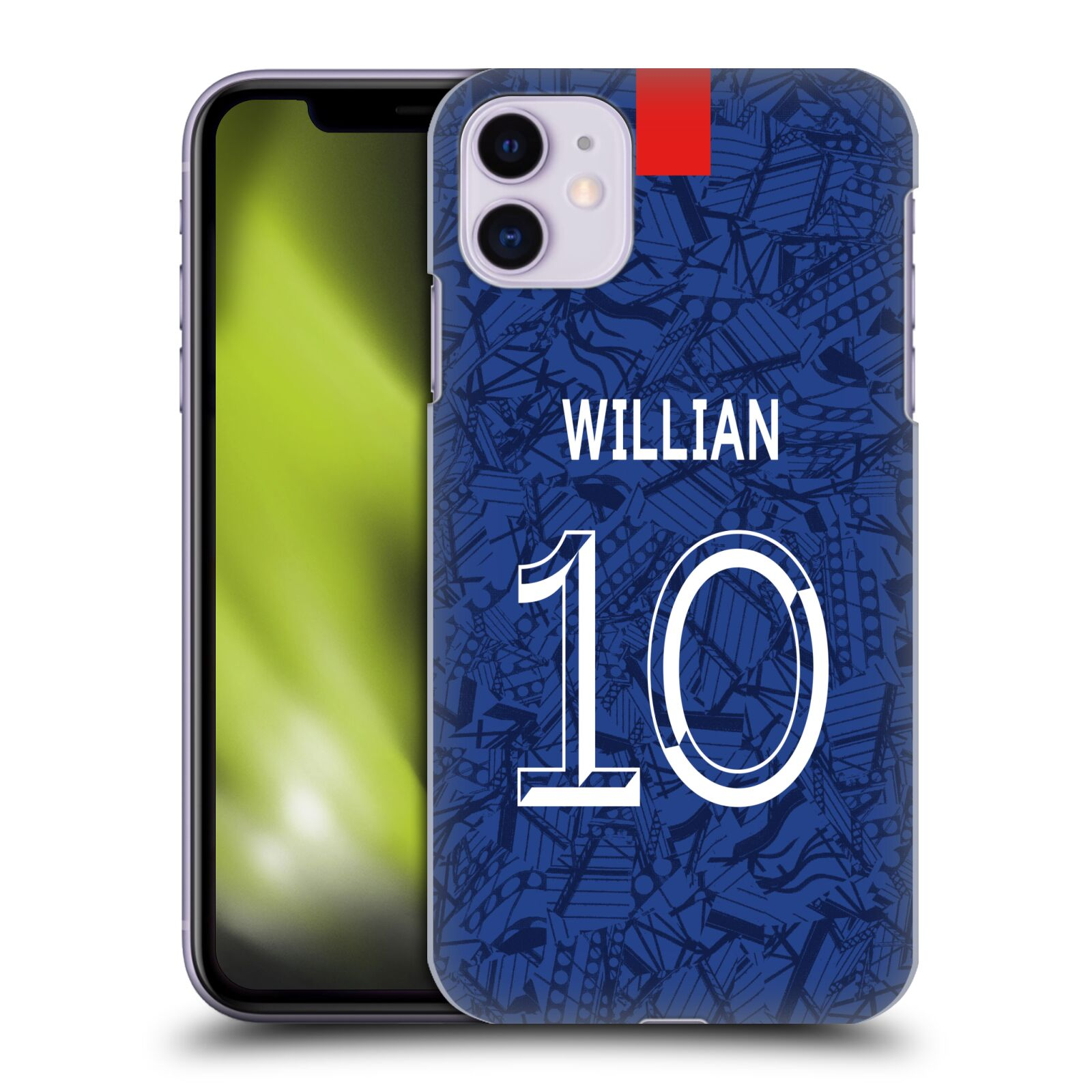 Offizielle Chelsea Football Club 2019/20 SPIELER HOME KIT GROUP 1 Willian Borges da Silva Hülle für Apple iPhone 11