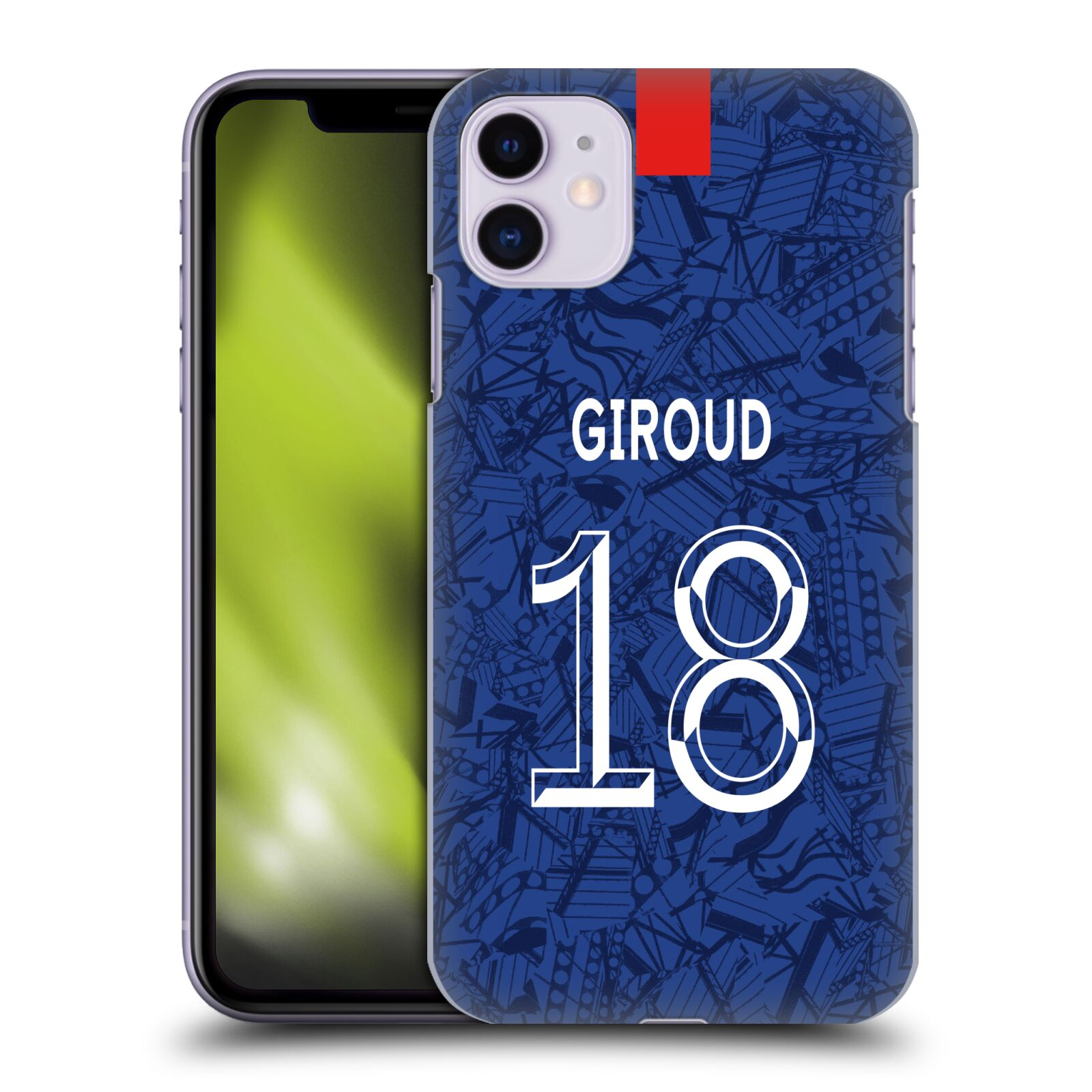 Offizielle Chelsea Football Club 2019/20 SPIELER HOME KIT GROUP 1 Olivier Giroud Hülle für Apple iPhone 11