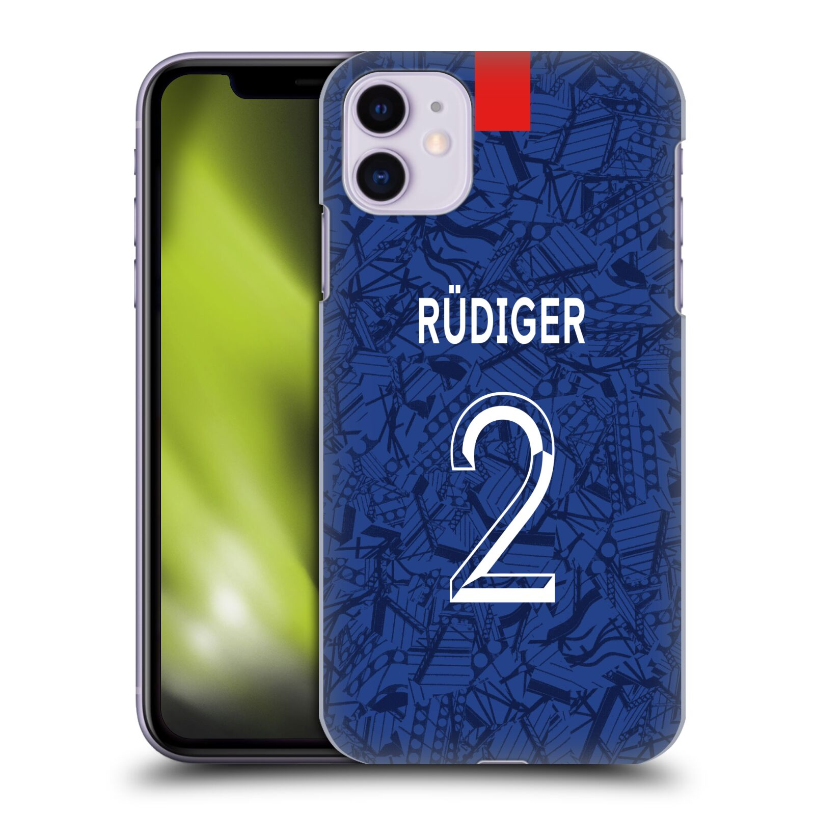 Offizielle Chelsea Football Club 2019/20 SPIELER HOME KIT GROUP 1 Antonio Rüdiger Hülle für Apple iPhone 11