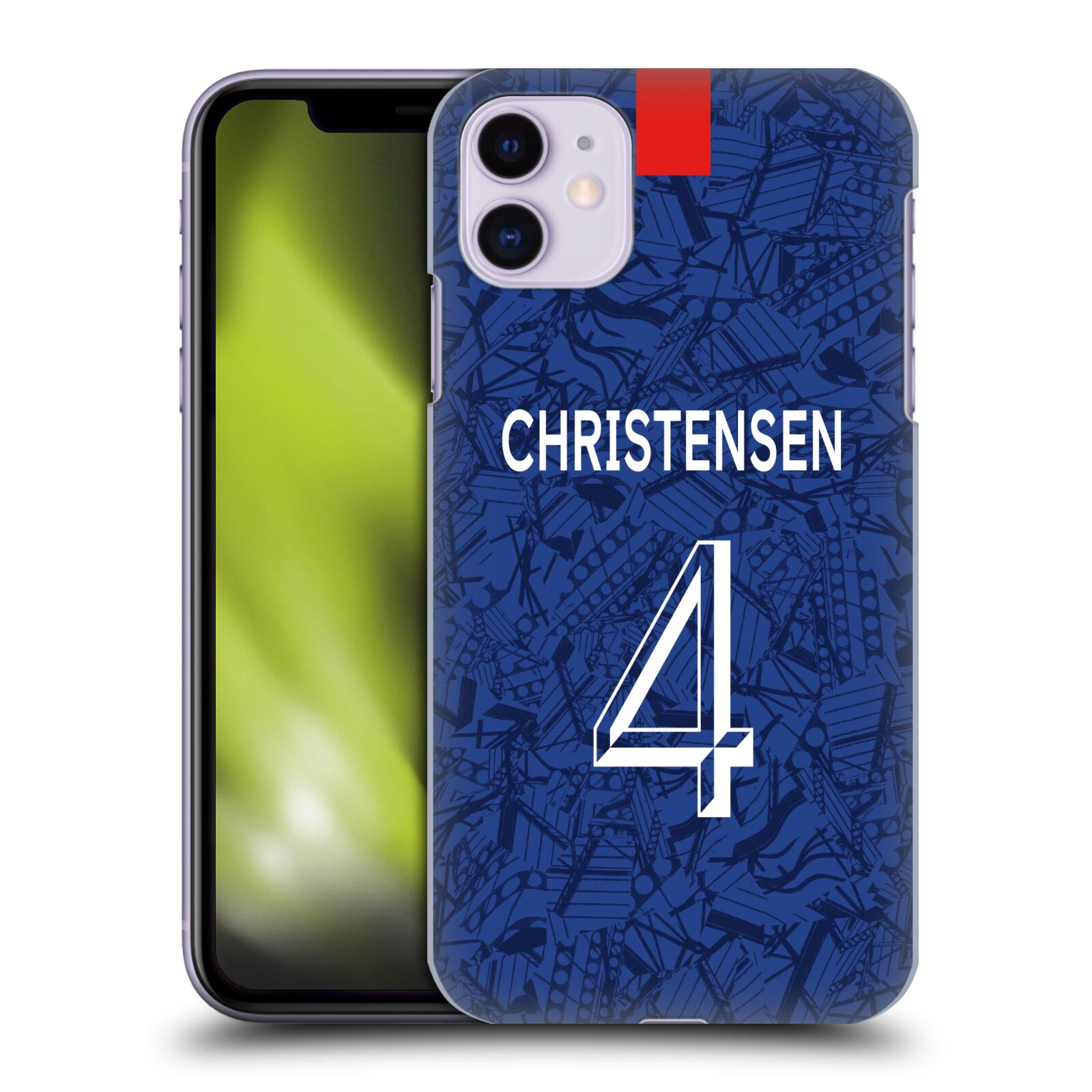 Offizielle Chelsea Football Club 2019/20 SPIELER HOME KIT GROUP 2 Andreas Christensen Hülle für Apple iPhone 11