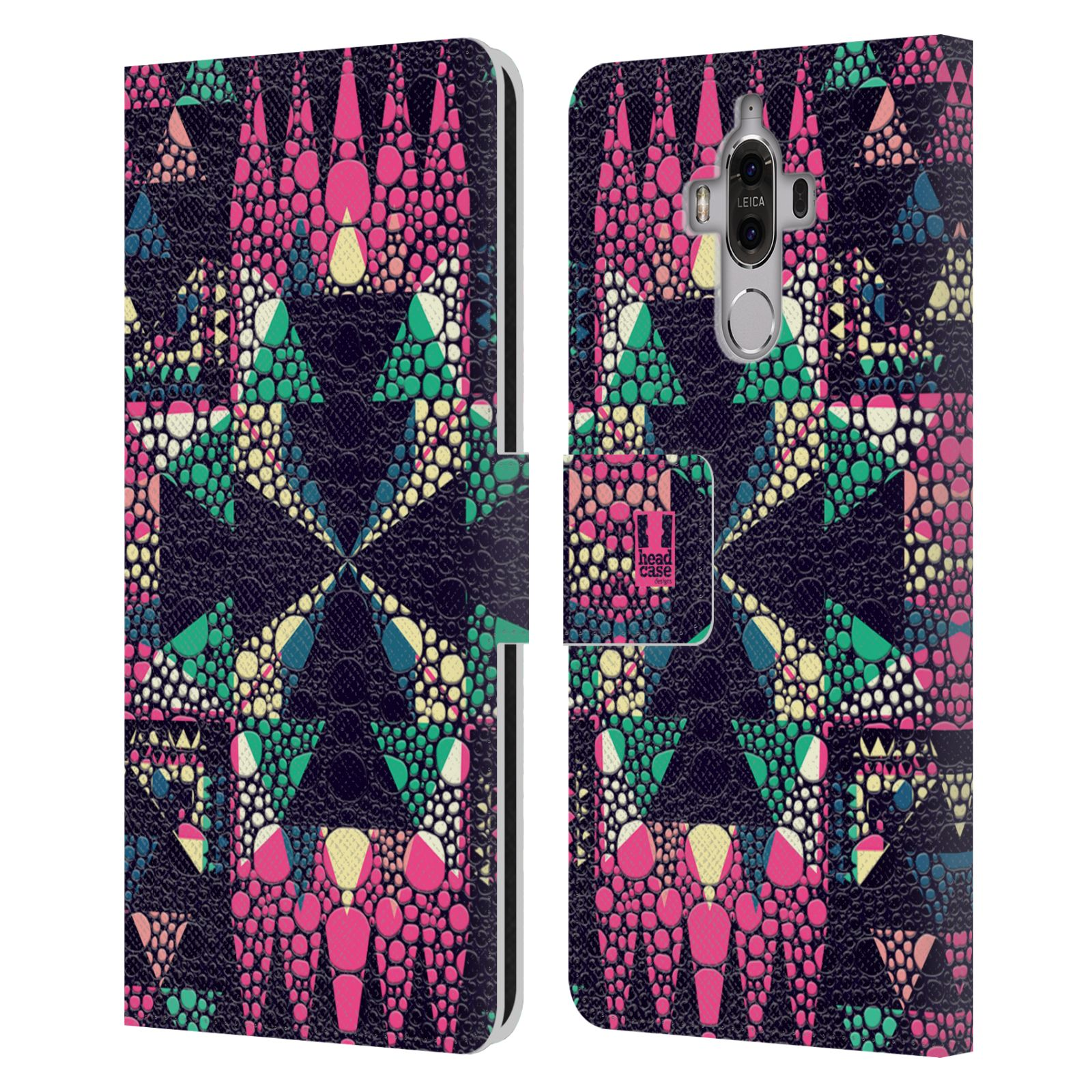 HEAD-CASE-DESIGNS-CHAMELEON-SKIN-PATTERNS-LEATHER-BOOK-CASE-FOR-HUAWEI-MATE-9