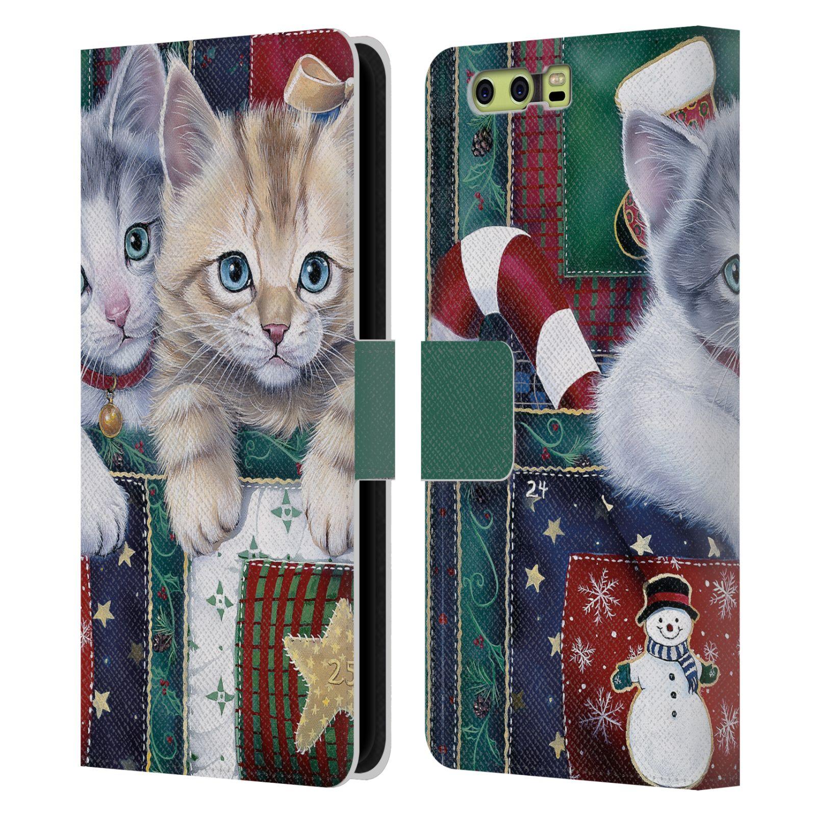 Libro-De-Cuero-mascotas-oficial-de-mezcla-de-Navidad-Billetera-Estuche-Cubierta-Para-Huawei