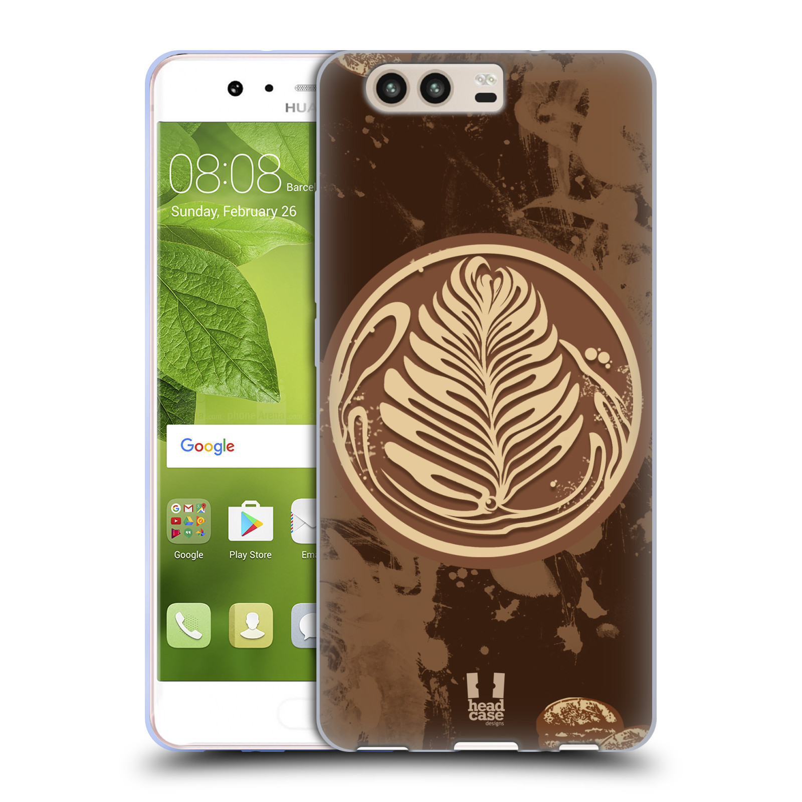 HEAD-CASE-DESIGNS-COFFEE-ADDICT-COVER-MORBIDA-IN-GEL-PER-HUAWEI-P10