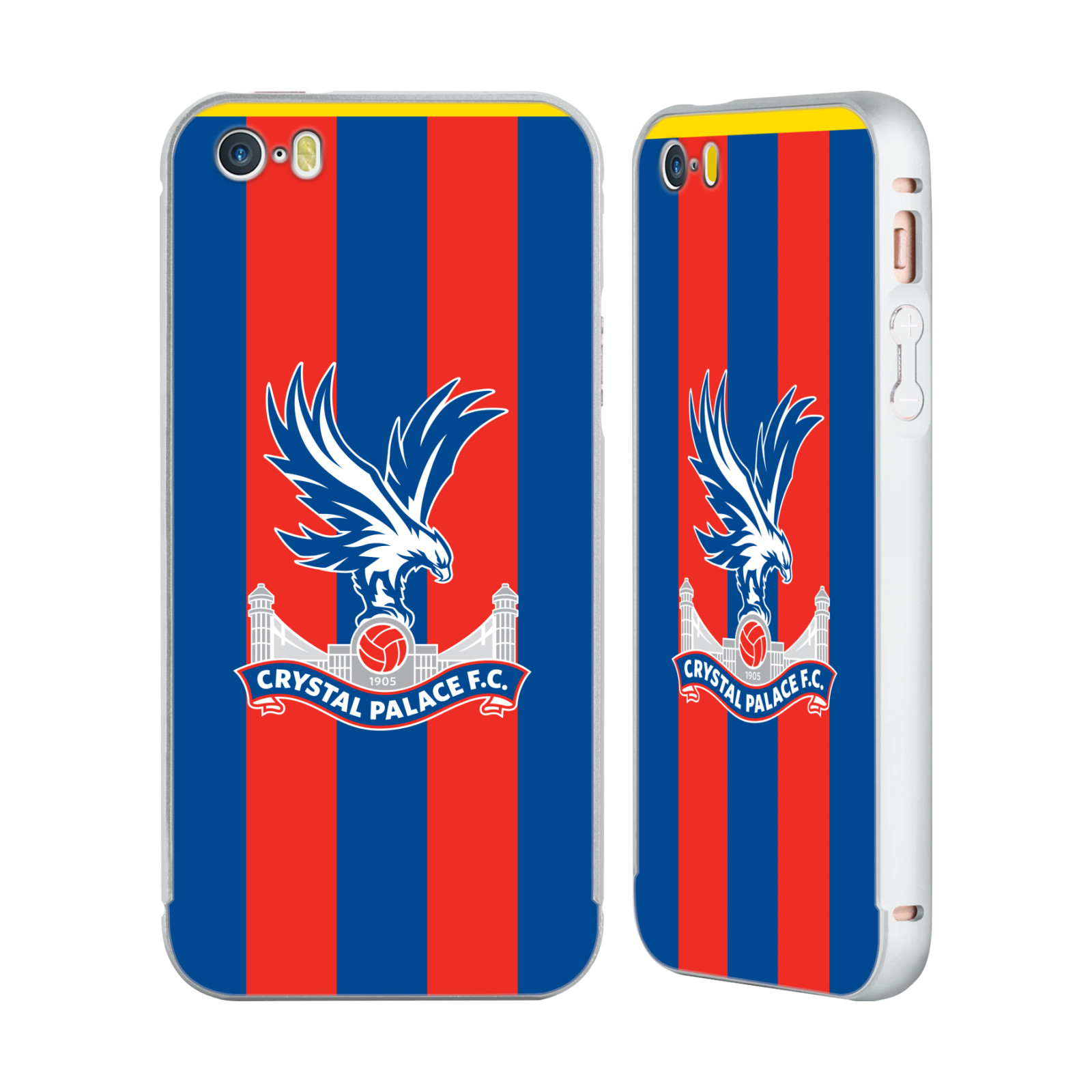 CRYSTAL-PALACE-FC-2017-18-PLAYERS-KIT-SILVER-SLIDER-CASE-FOR-APPLE-iPHONE-PHONES