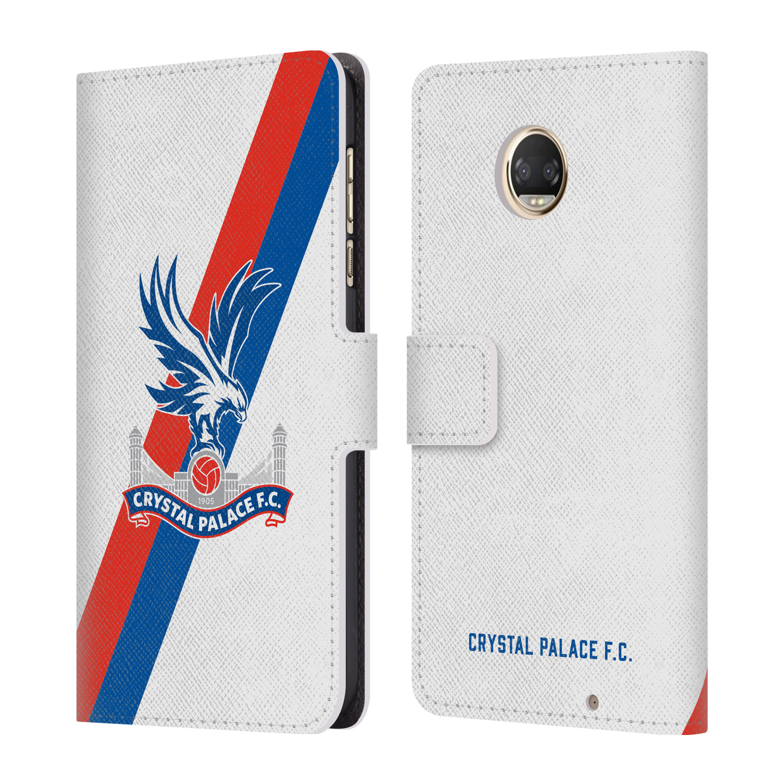 CRYSTAL-PALACE-FC-2018-19-PLAYERS-KIT-LEATHER-BOOK-CASE-FOR-MOTOROLA-PHONES