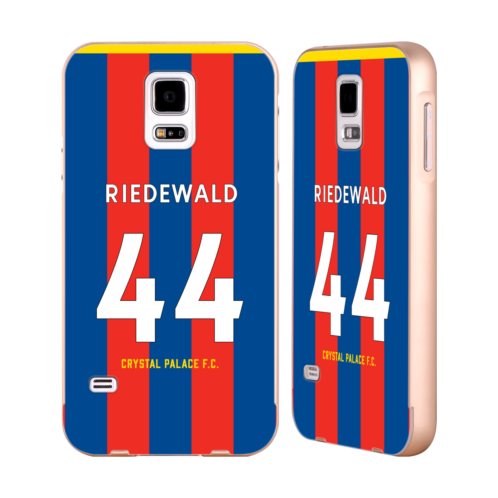 CRYSTAL-PALACE-FC-2017-18-PLAYERS-HOME-KIT-2-GOLD-SLIDER-CASE-FOR-SAMSUNG-PHONES