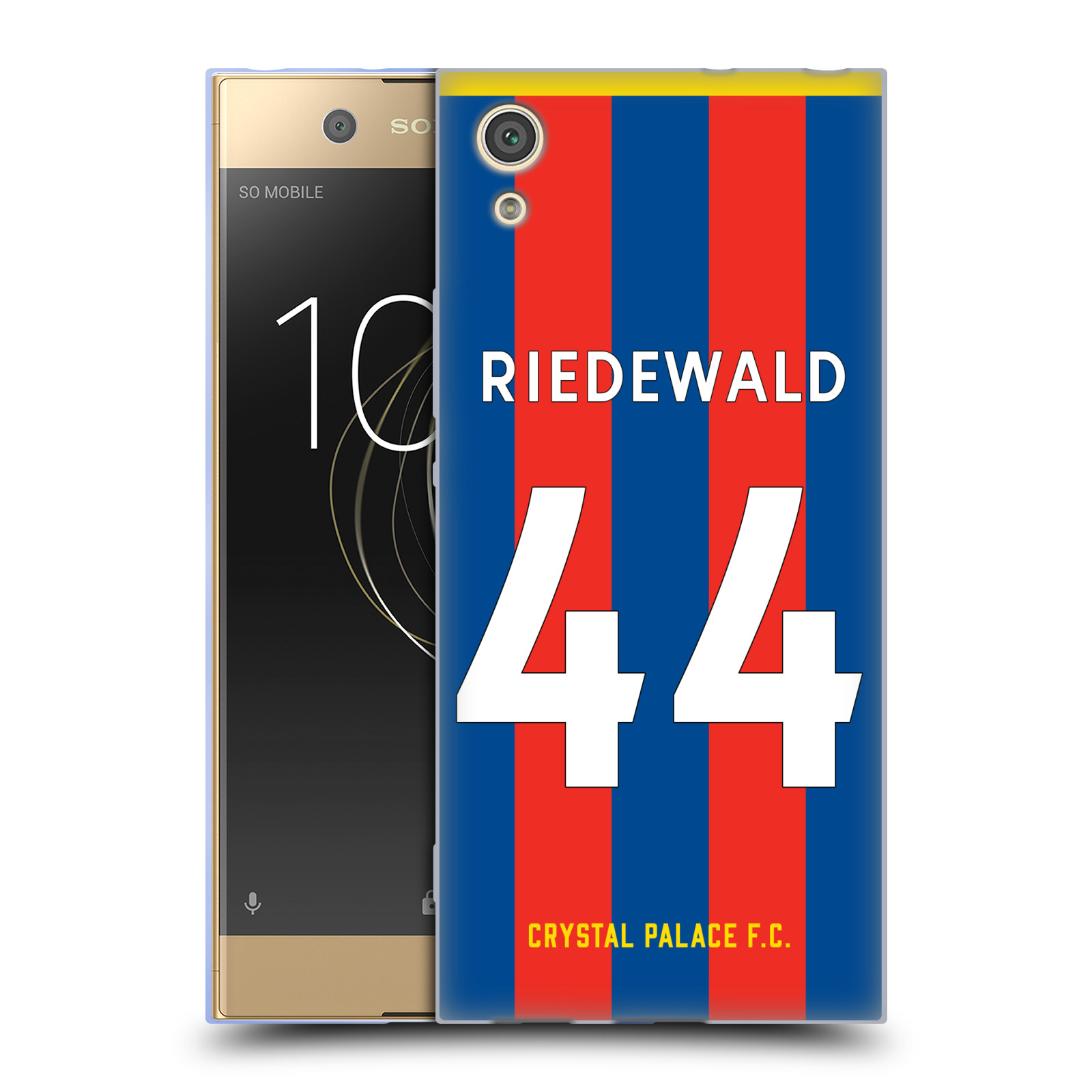 Oficial-Crystal-Palace-FC-2017-18-jugadores-Home-Kit-2-Gel-Estuche-Para-Sony-Telefonos-1