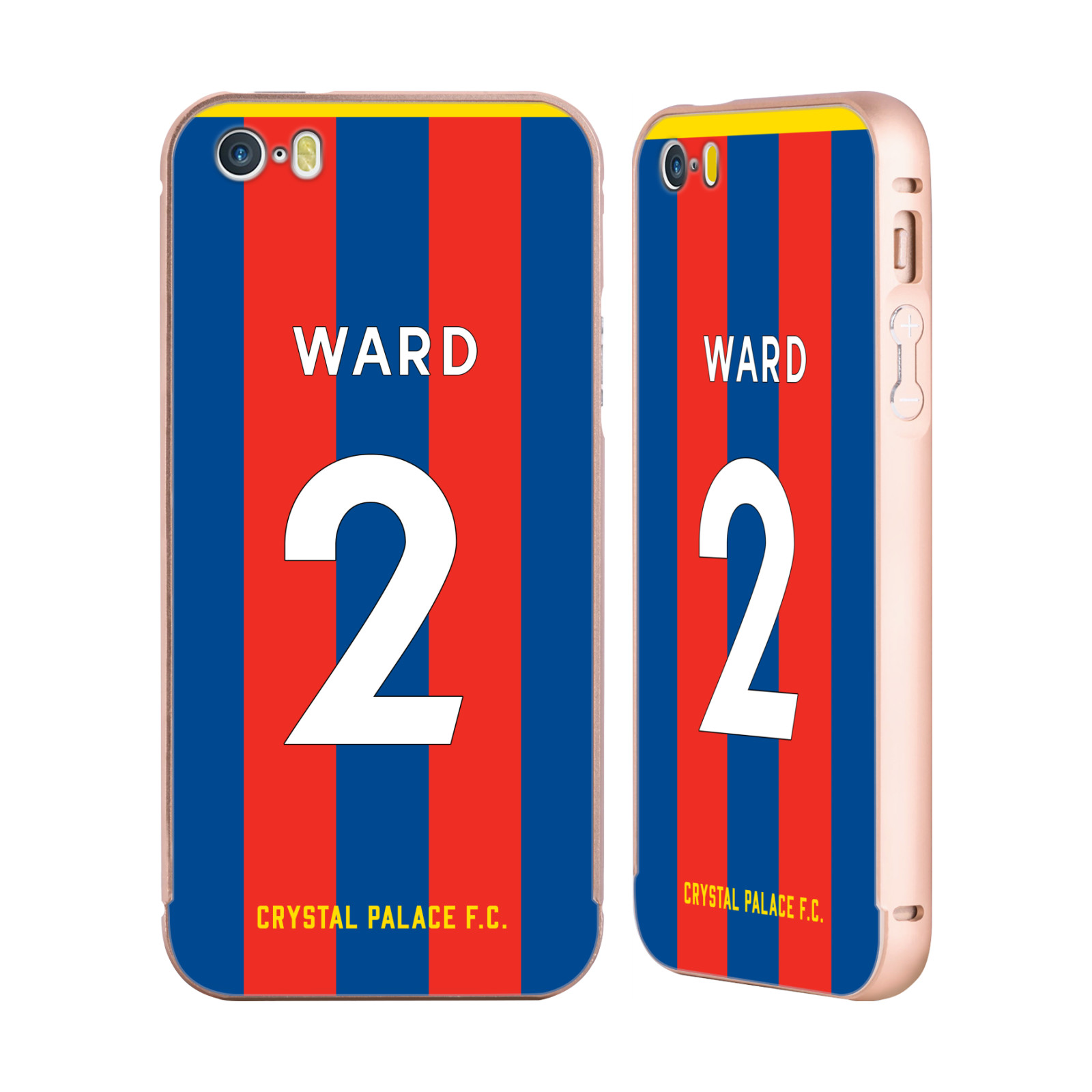 CRYSTAL-PALACE-FC-2017-18-HOME-KIT-2-GOLD-SLIDER-CASE-FOR-APPLE-iPHONE-PHONES