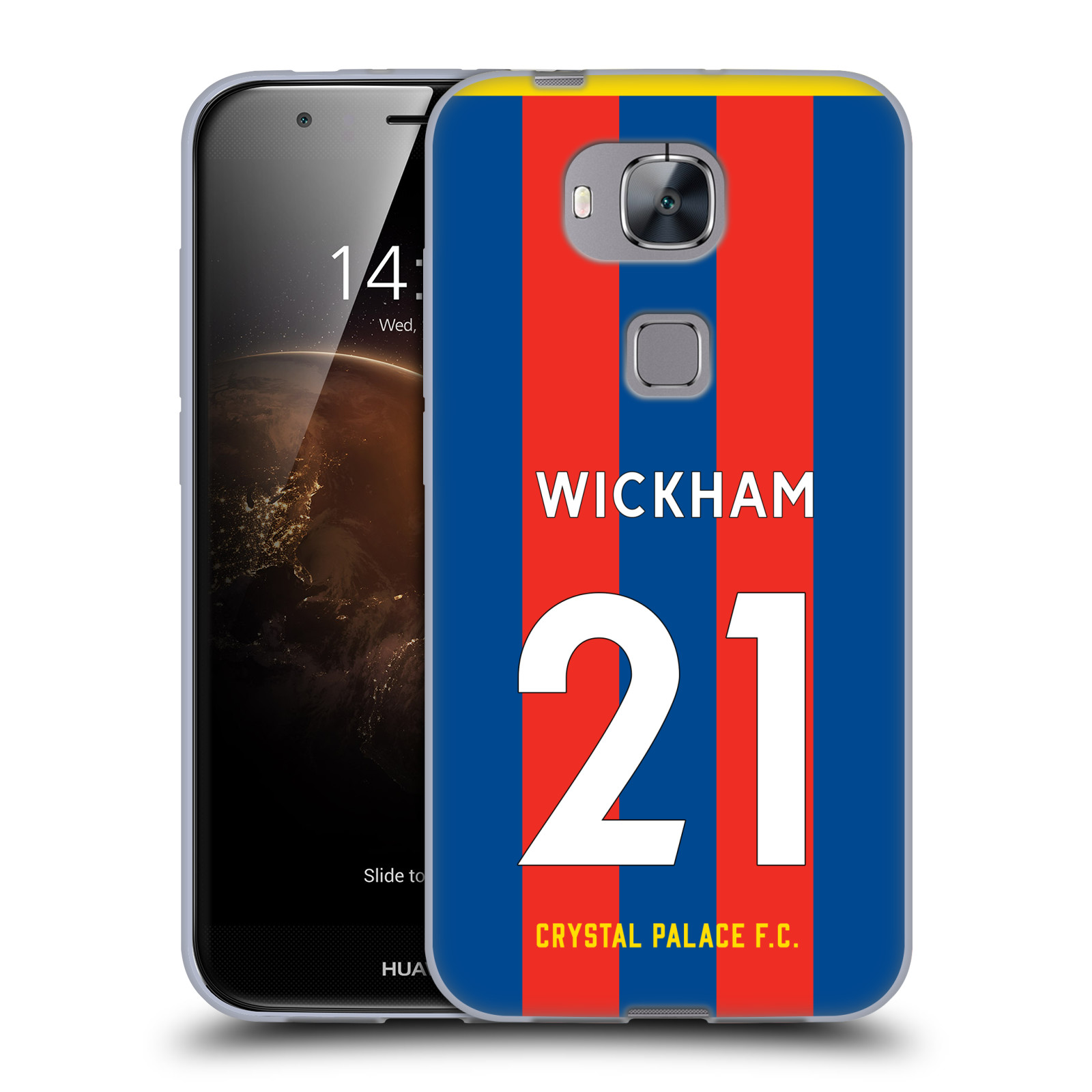 Oficial-Crystal-Palace-FC-2017-18-Home-Kit-2-Suave-con-Gel-para-Huawei-telefonos-2