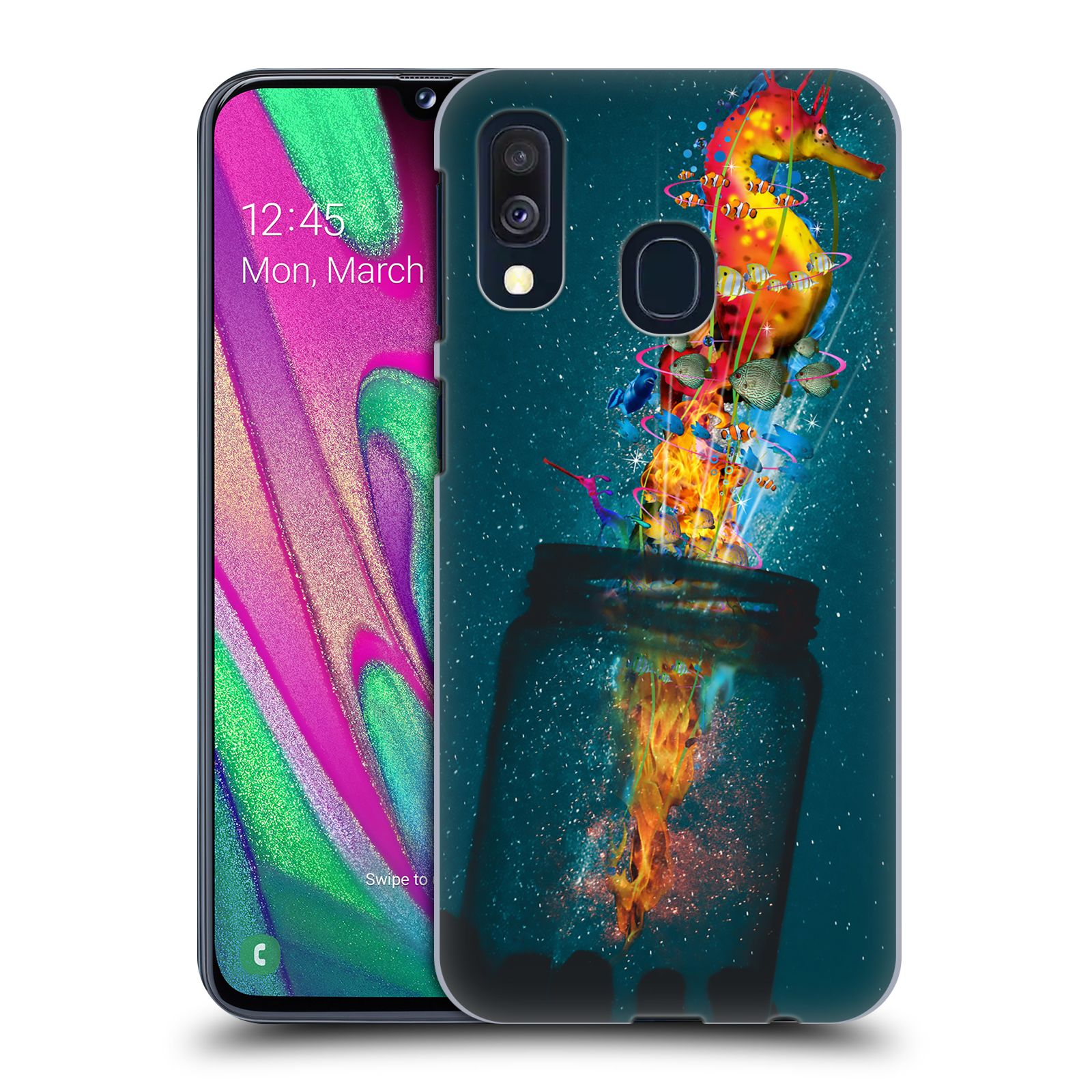 Official Dave Loblaw Forest & Space Electric Seahorse Case for Samsung Galaxy A40 (2019)