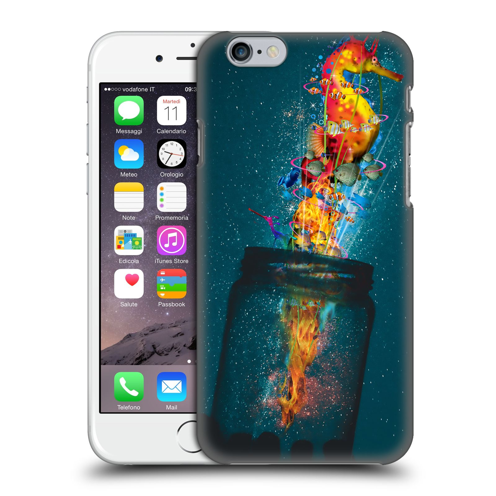 Official Dave Loblaw Forest & Space Electric Seahorse Case for Apple iPhone 6 / iPhone 6s