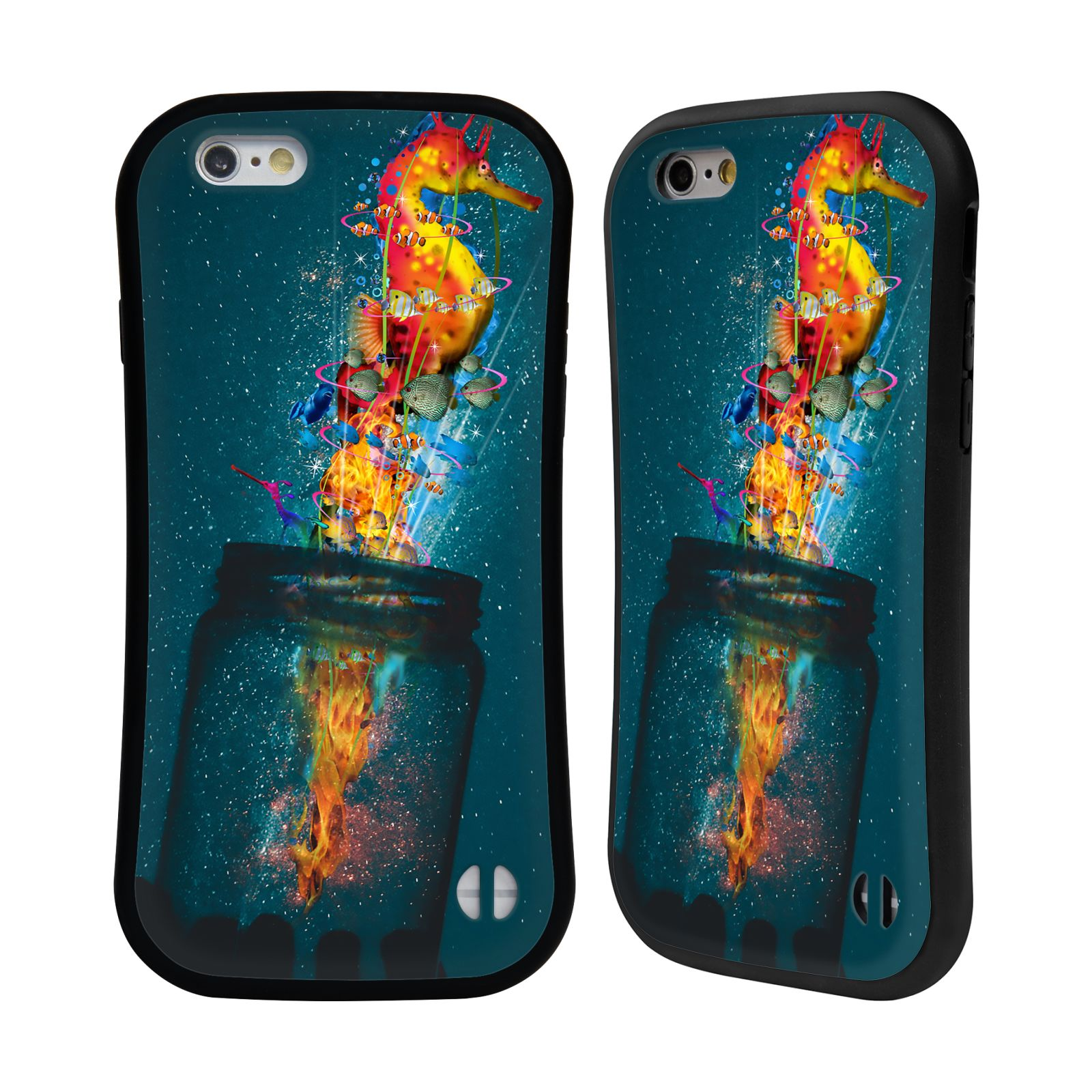 Official Dave Loblaw Forest & Space Electric Seahorse Hybrid Case for Apple iPhone 6 / iPhone 6s