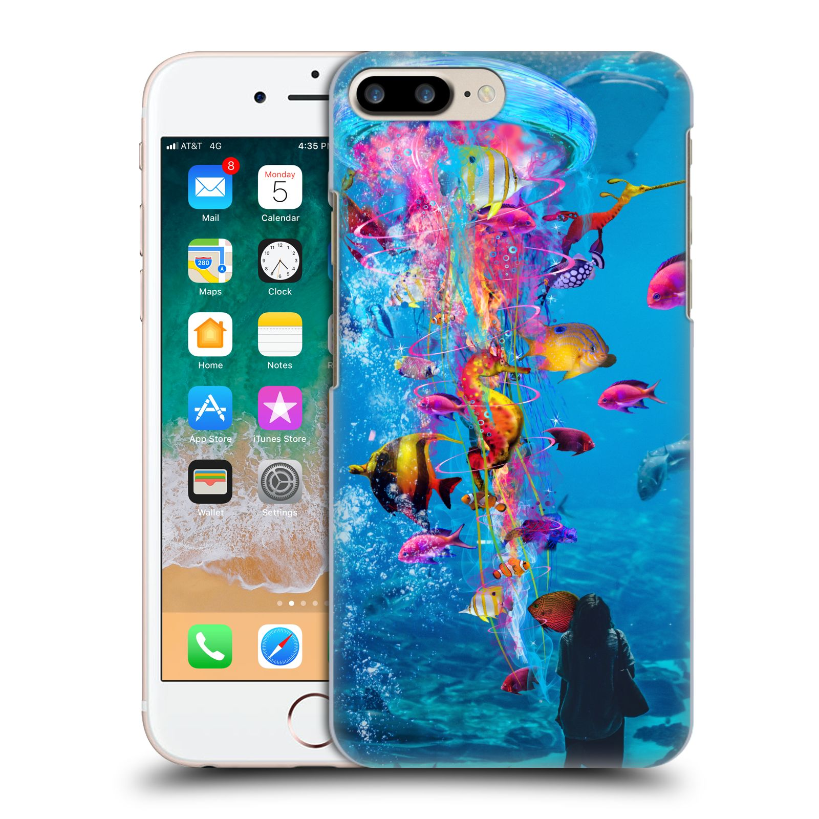 Official Dave Loblaw Underwater Aquarium Case for Apple iPhone 7 Plus / iPhone 8 Plus