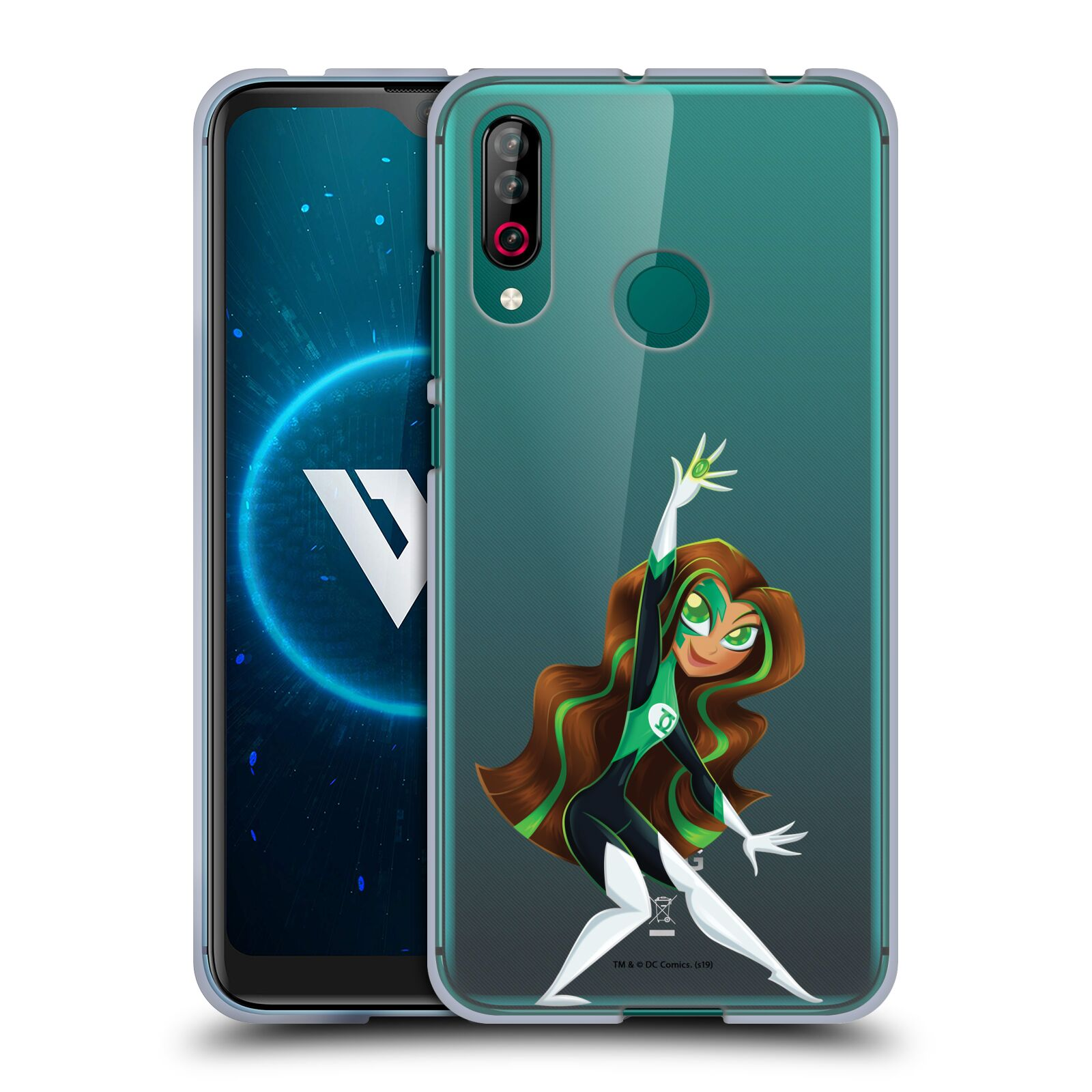 Official DC Super Hero Girls Rendered Characters Green Lantern Gel Case for LG W30