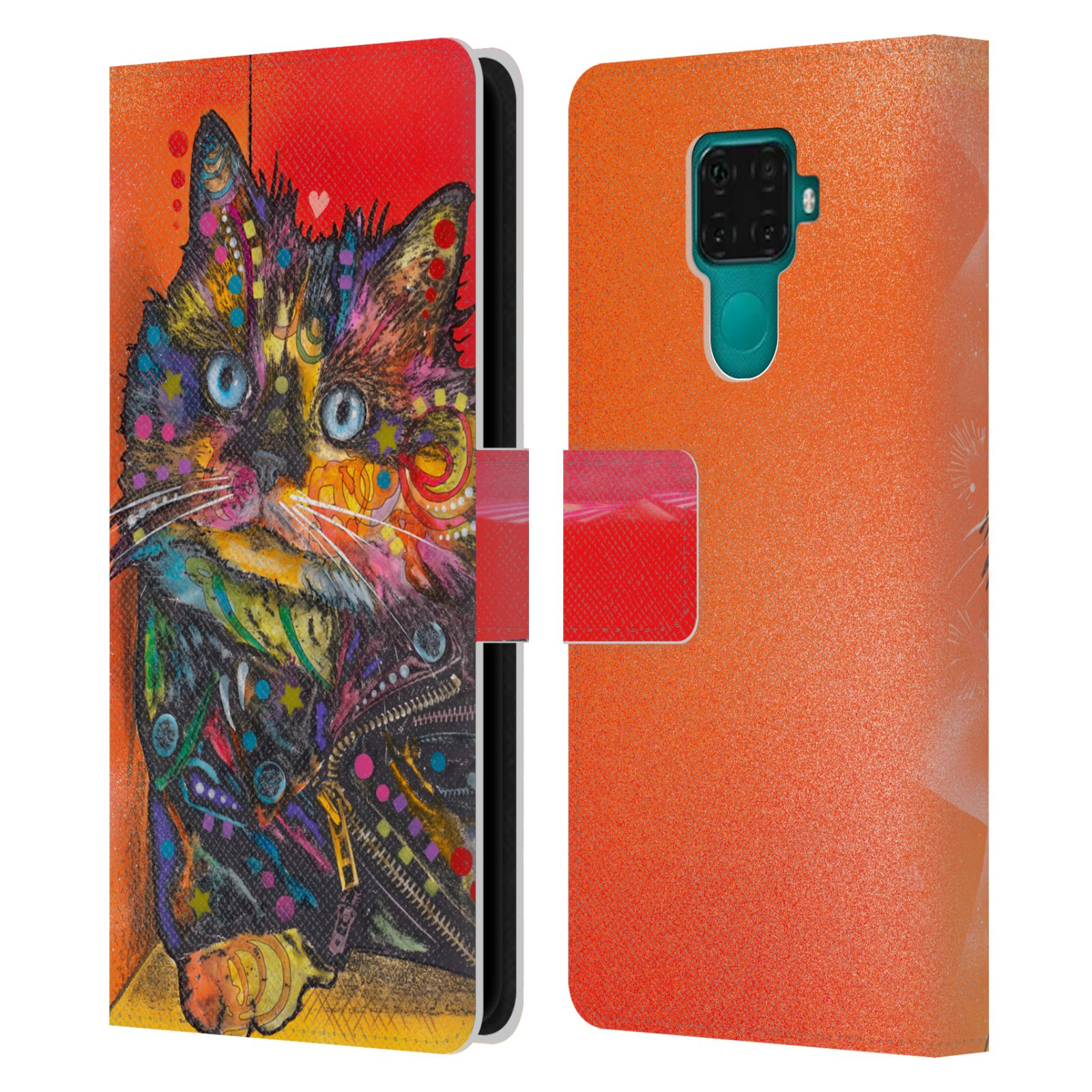 Official Dean Russo Cats Baby Albert Leather Book Wallet Case For Huawei Nova 5i Pro/Mate 30 Lite
