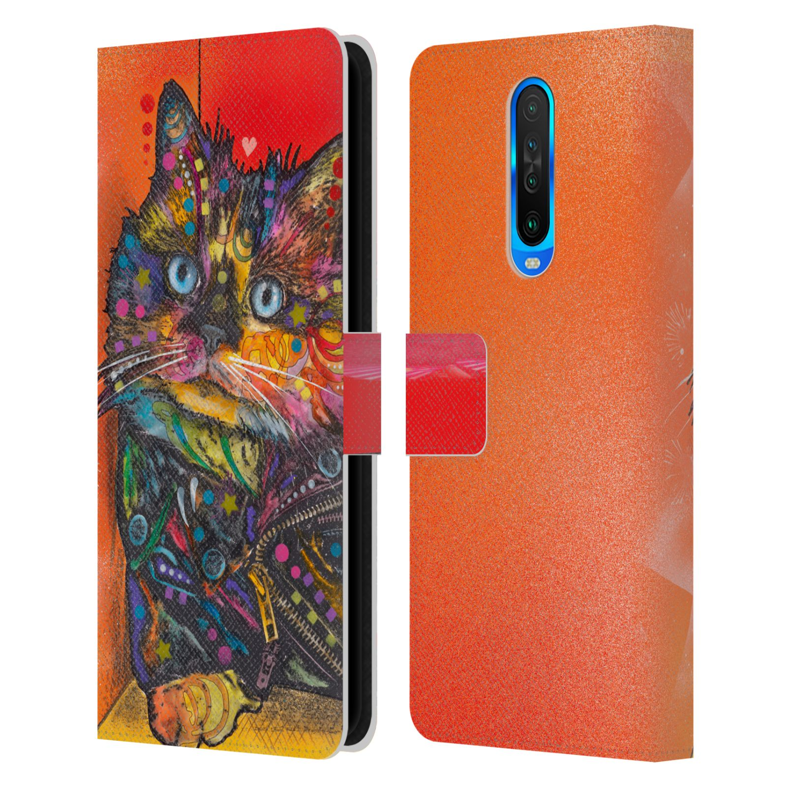 Official Dean Russo Cats Baby Albert Leather Book Wallet Case For Xiaomi Redmi K30 / 5G