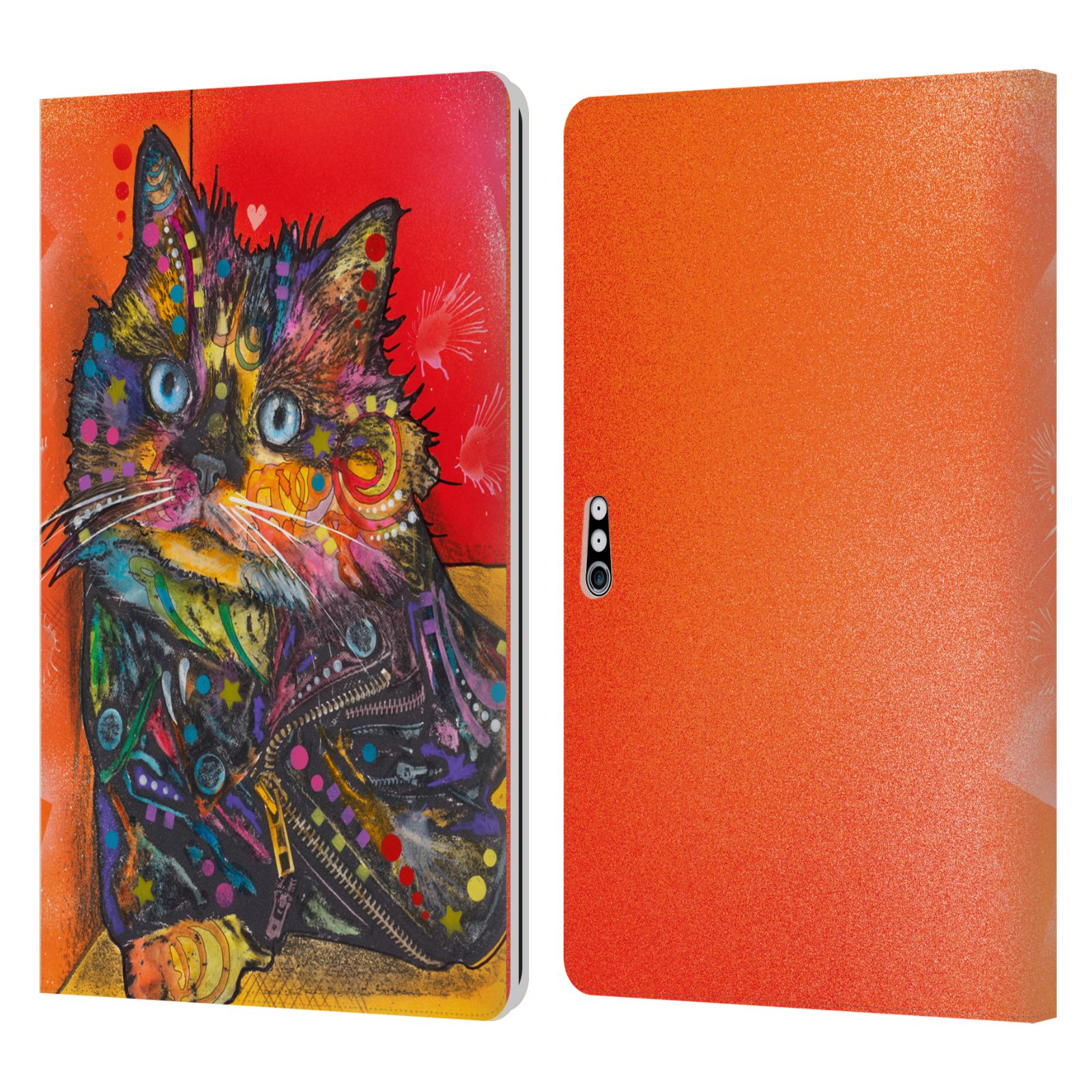Official Dean Russo Cats Baby Albert Leather Book Wallet Case For Microsoft Surface Pro 4/5/6