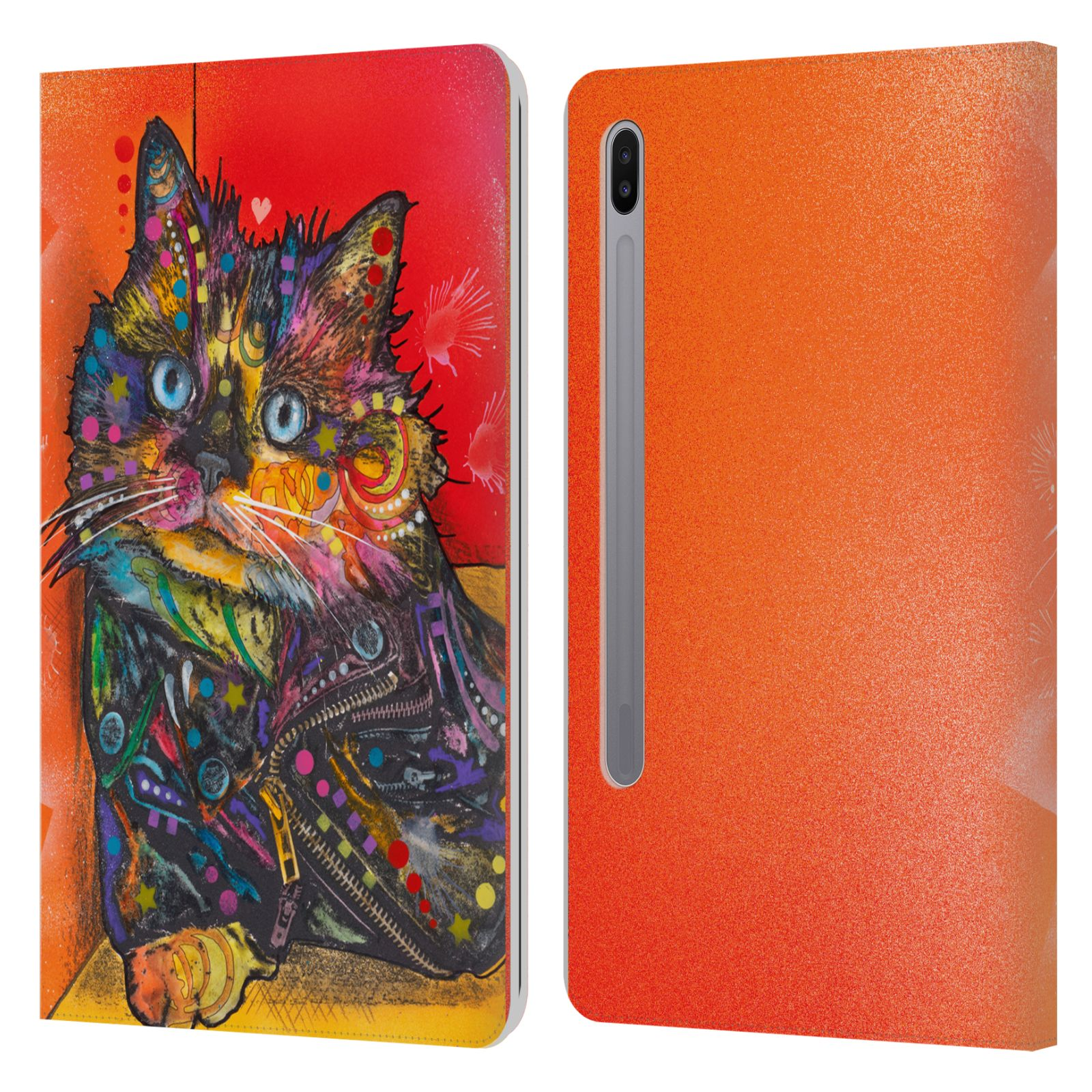 Official Dean Russo Cats Baby Albert Leather Book Wallet Case For Samsung Galaxy Tab S6 (2019)