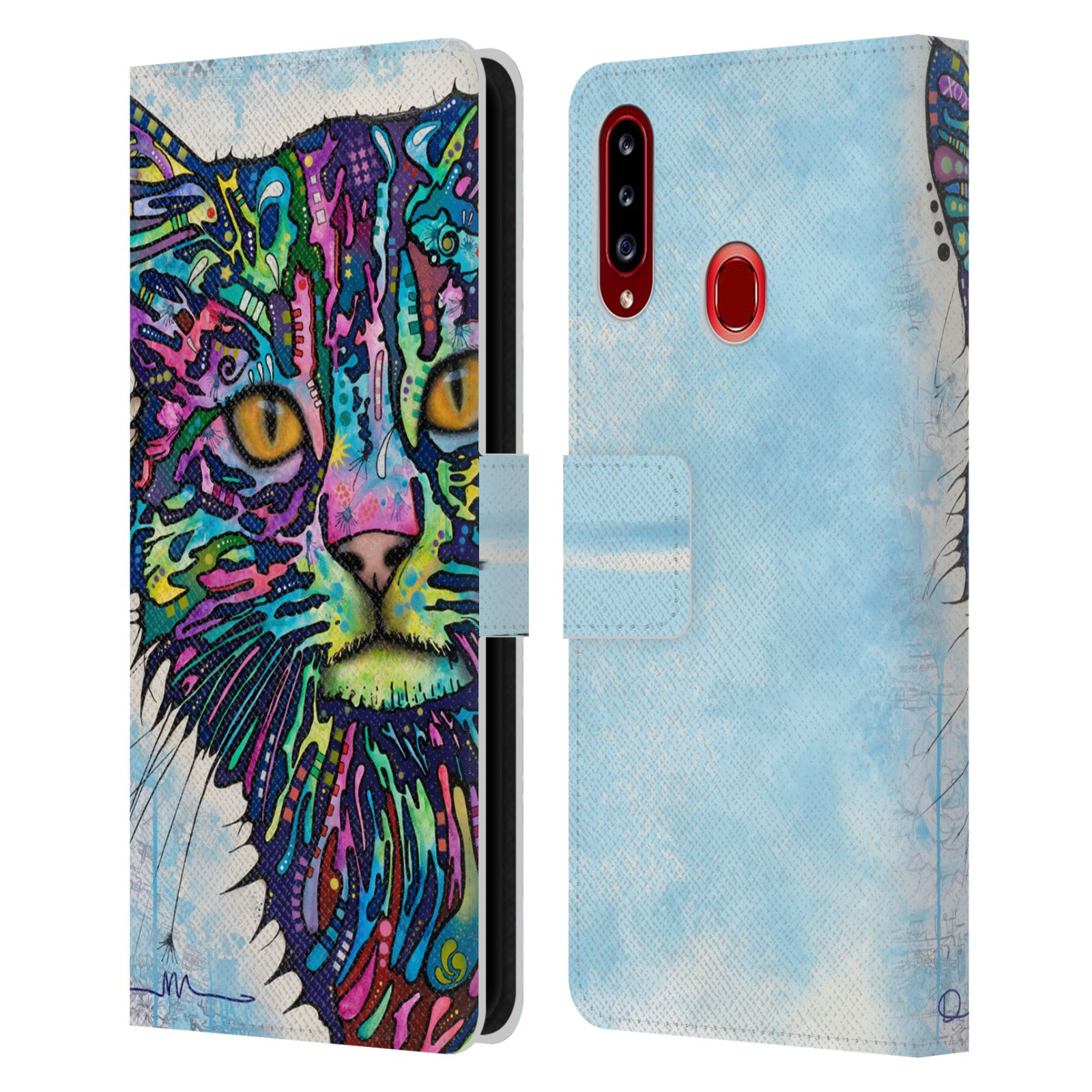 Official Dean Russo Cats Diligence Leather Book Wallet Case For Samsung Galaxy A20s (2019)