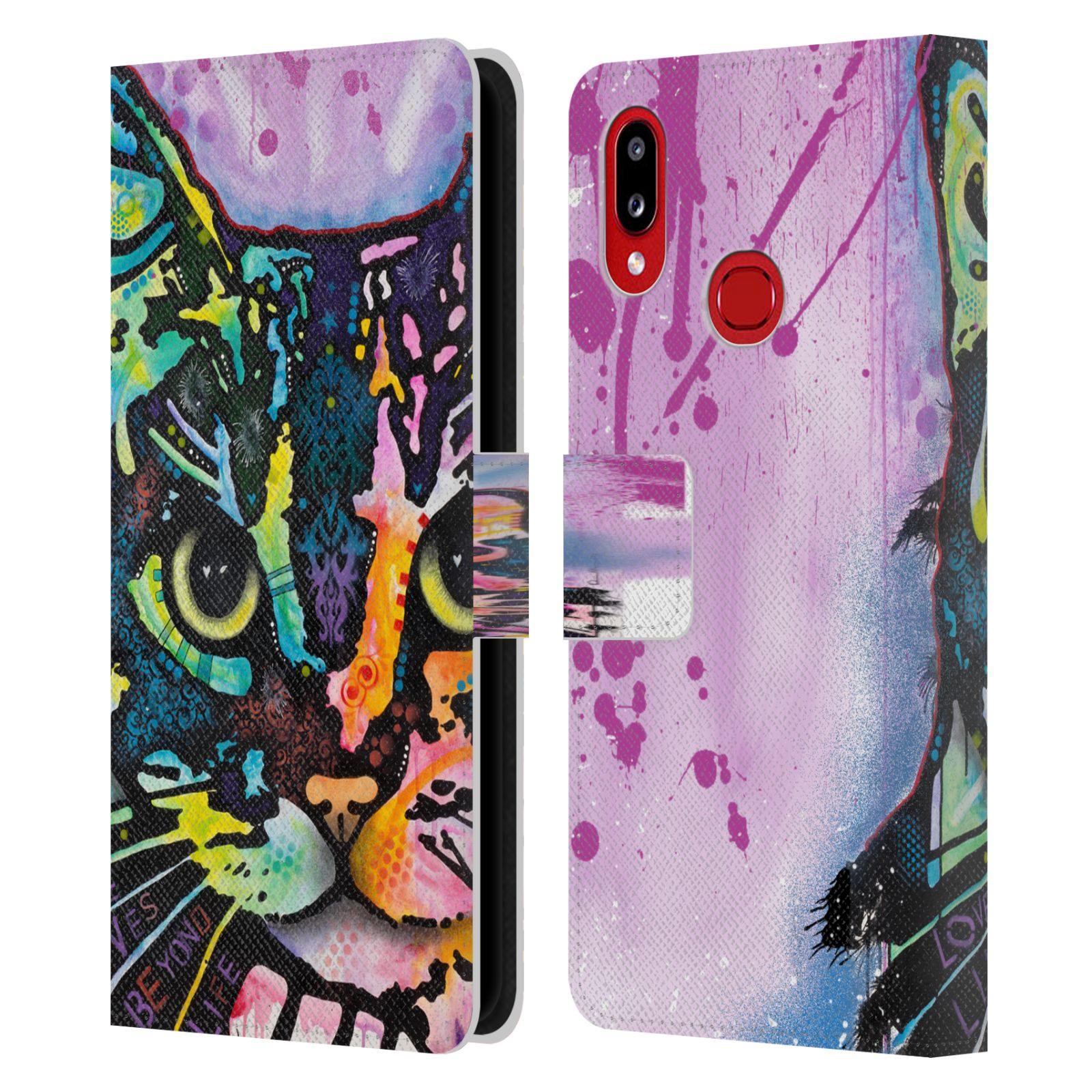 Official Dean Russo Cats Maya Leather Book Wallet Case For Samsung Galaxy A10s (2019)