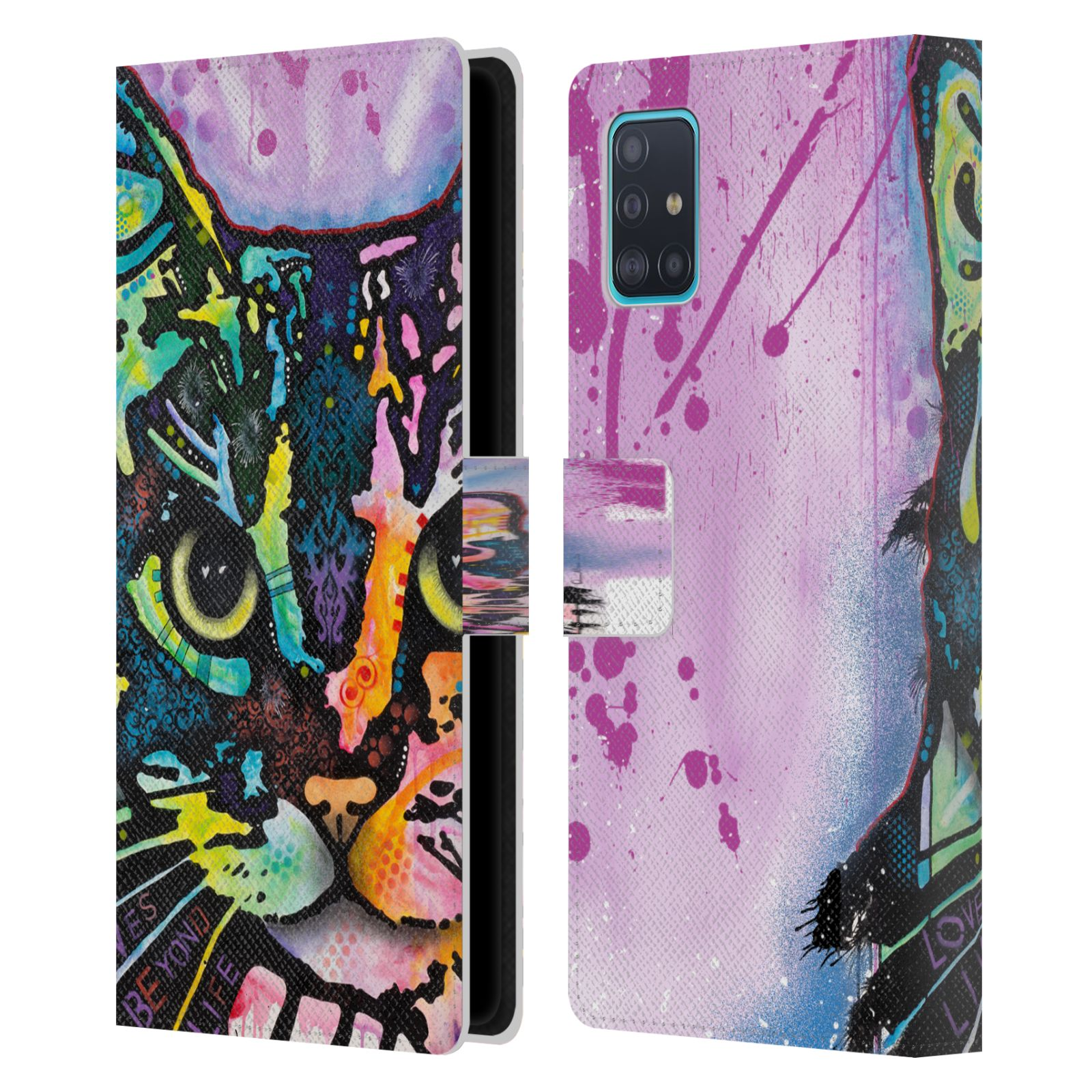 Official Dean Russo Cats Maya Leather Book Wallet Case For Samsung Galaxy A51 (2019)