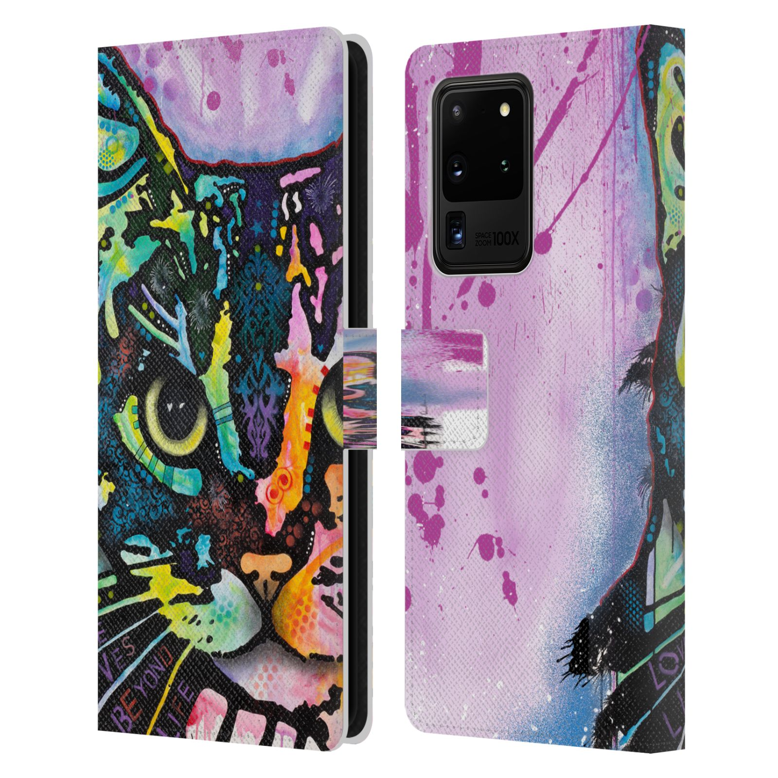 Official Dean Russo Cats Maya Leather Book Wallet Case For Samsung Galaxy S20 Ultra 5G