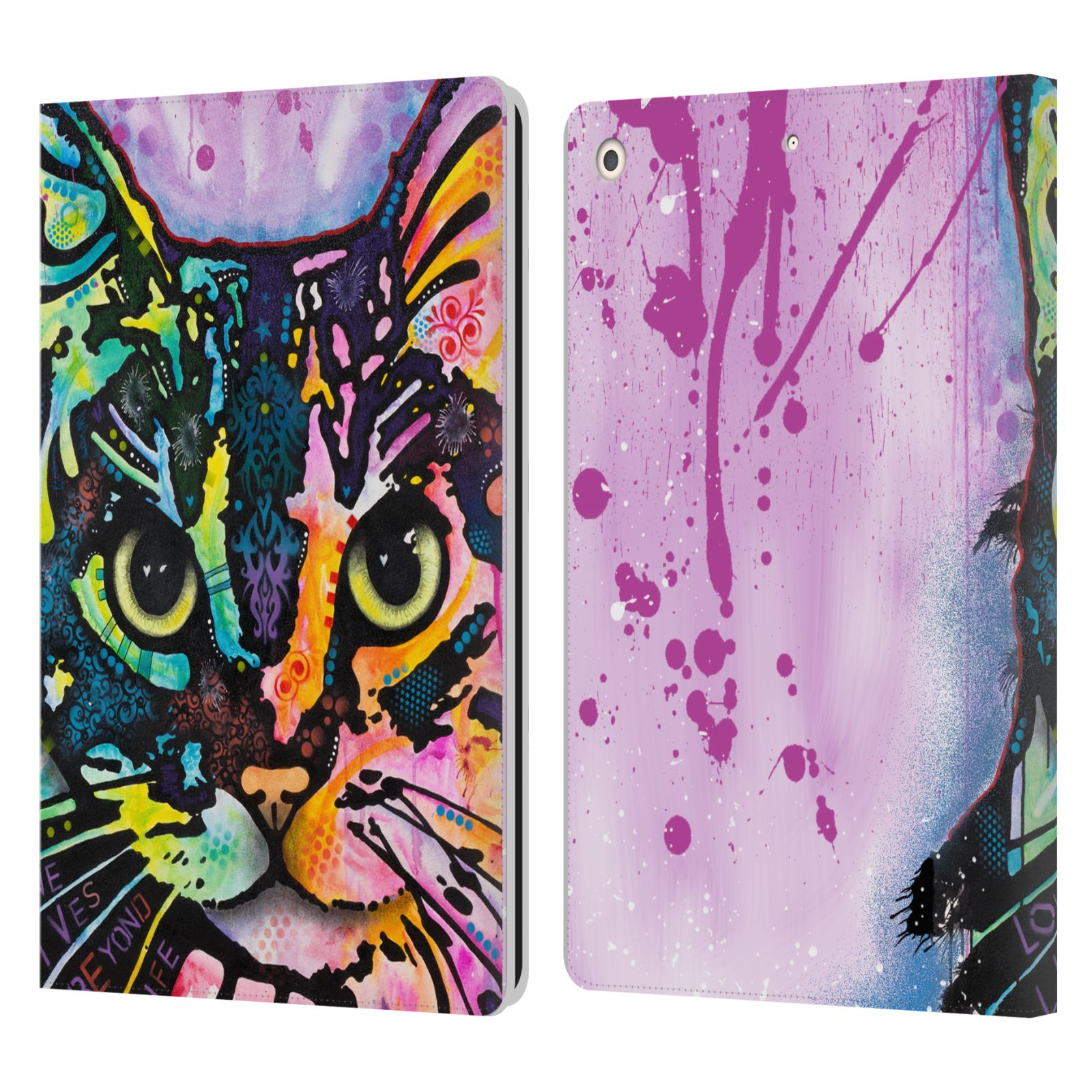 Official Dean Russo Cats Maya Leather Book Wallet Case For Apple iPad 10.2 (2019)