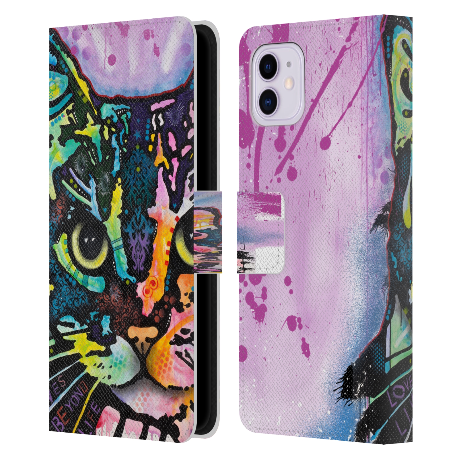 Official Dean Russo Cats Maya Leather Book Wallet Case For Apple iPhone 11