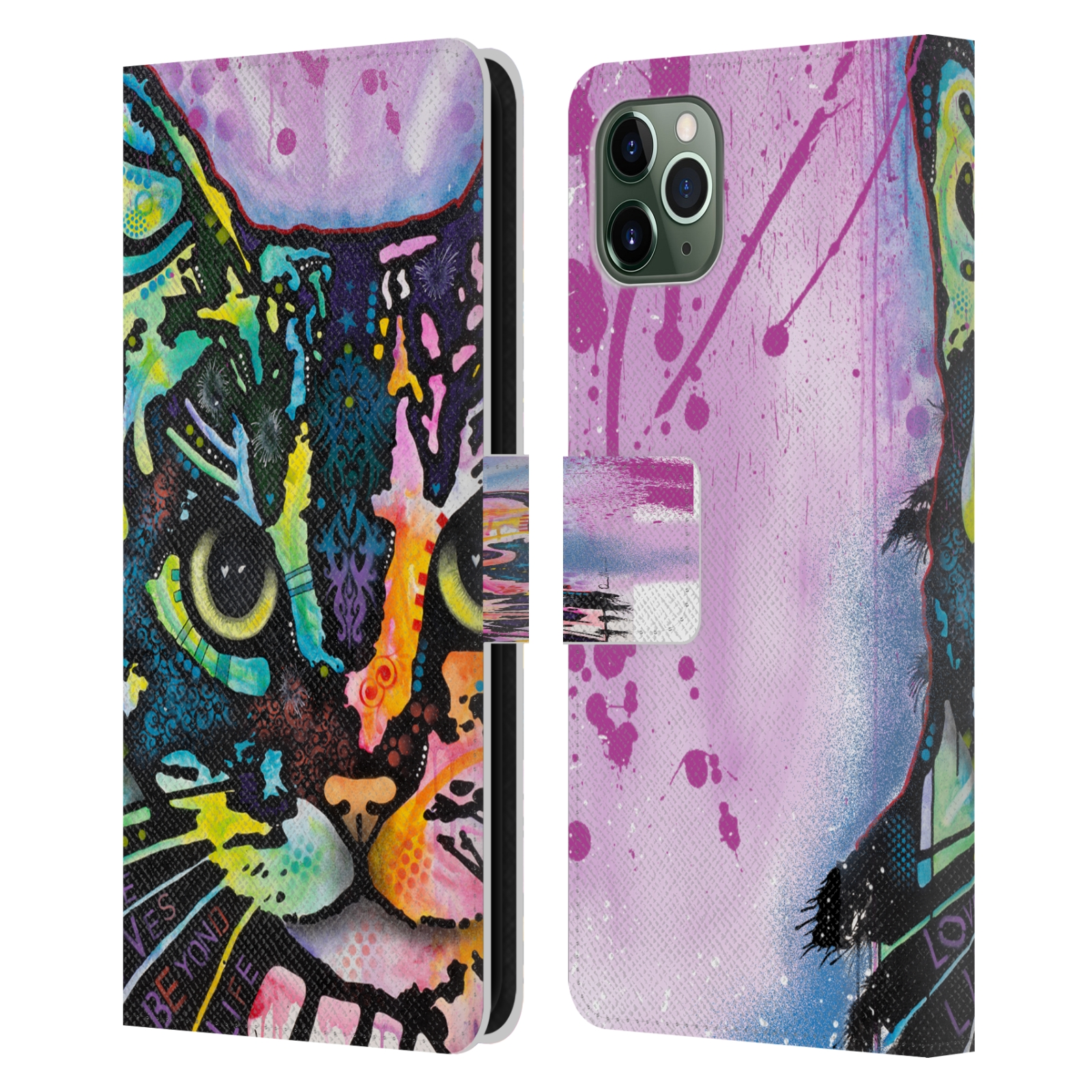 Official Dean Russo Cats Maya Leather Book Wallet Case For Apple iPhone 11 Pro Max