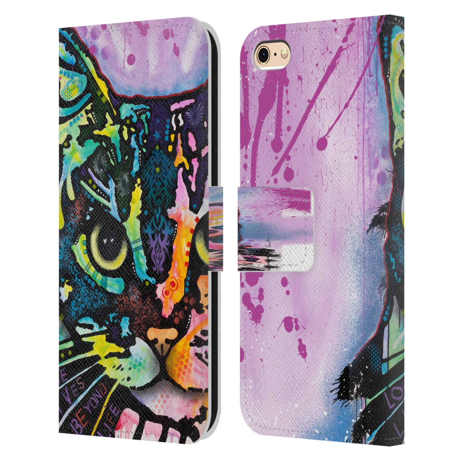 Official Dean Russo Cats Maya Leather Book Wallet Case For Apple iPhone 6 / iPhone 6s
